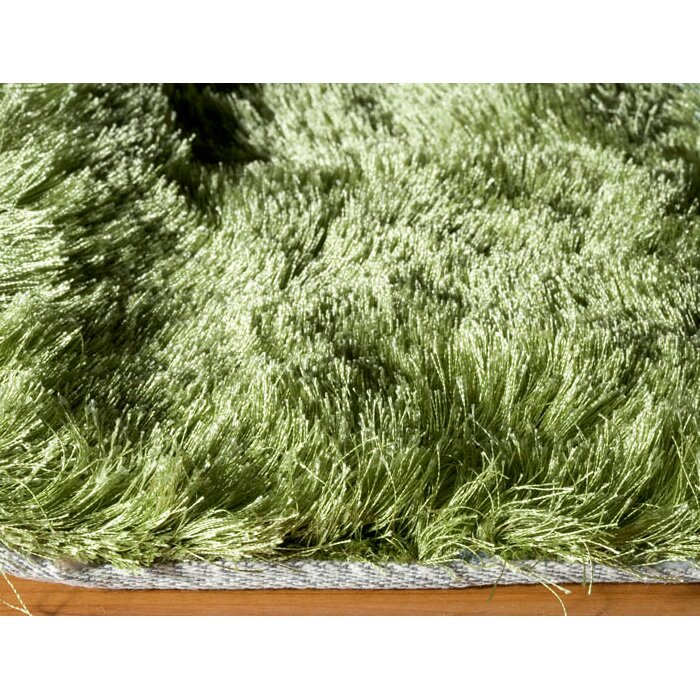 Momeni Lustre Shag Hand-Tufted Apple Green Area Rug