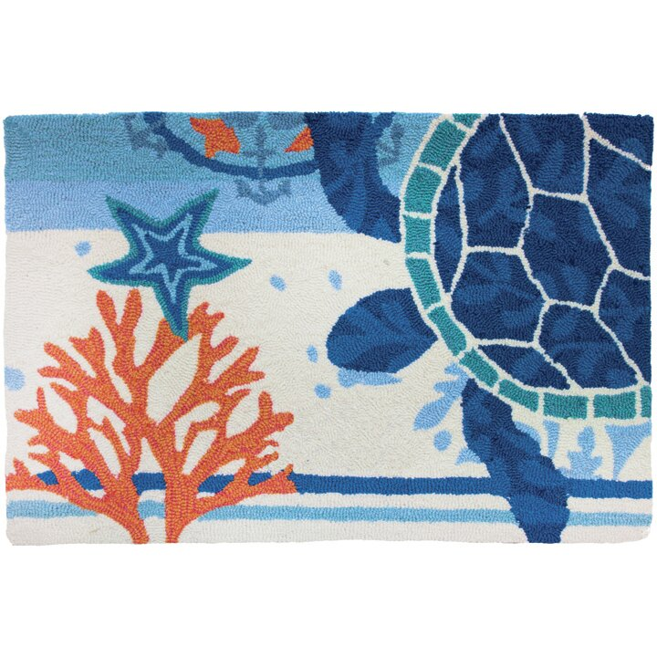 Homefires Turtle Medallion Novelty Rug & Reviews