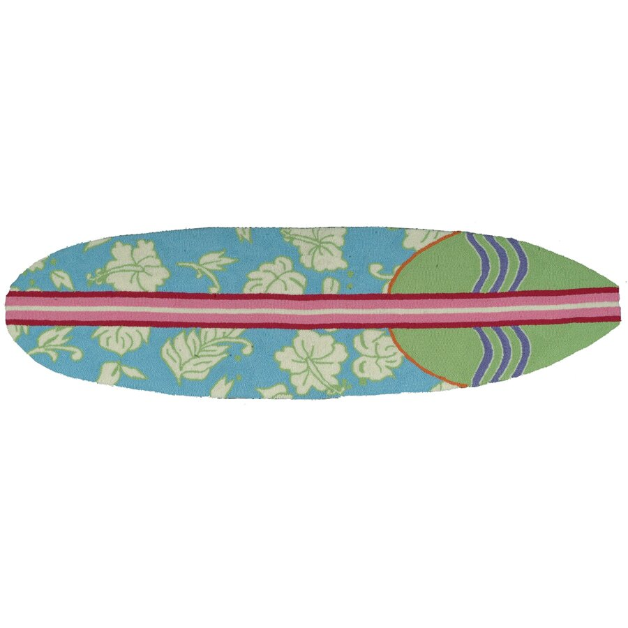 Surfboard Area Rug: Homefires Surfboard Hawaiian Blue Area Rug & Reviews
