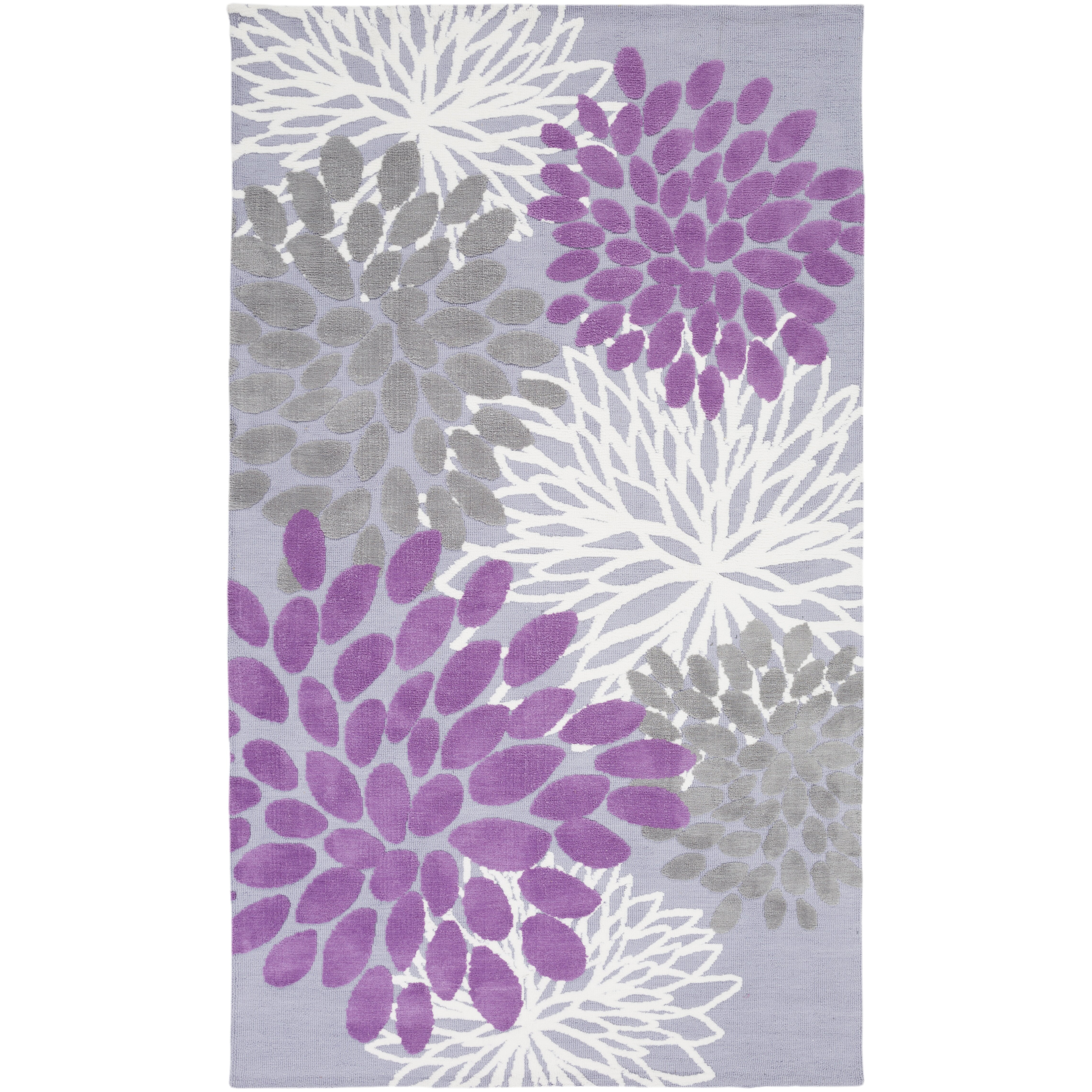 Lavender Rug: Surya Abigail Lavender/Gray Area Rug & Reviews