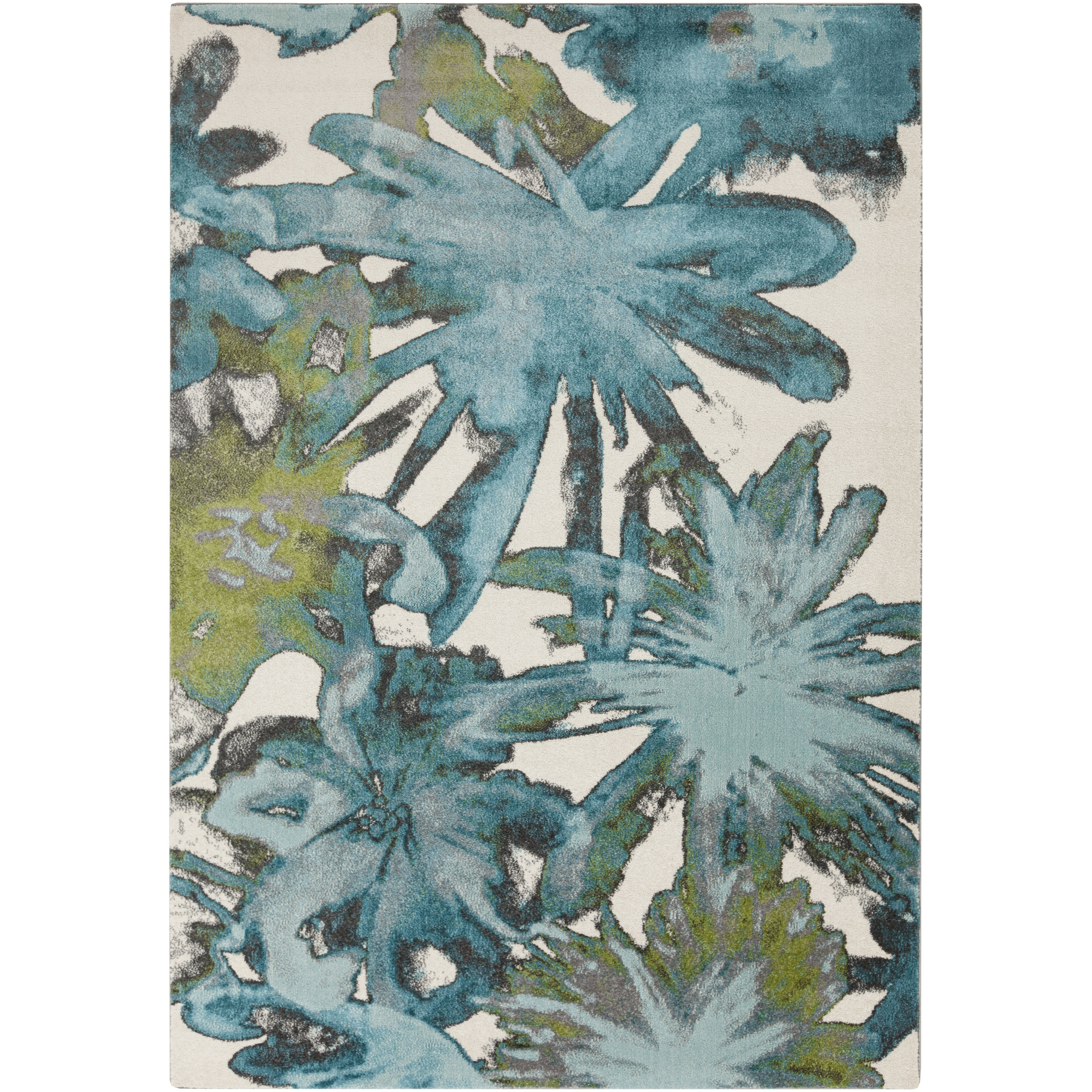 Surya Aberdine Teal Floral Area Rug Reviews