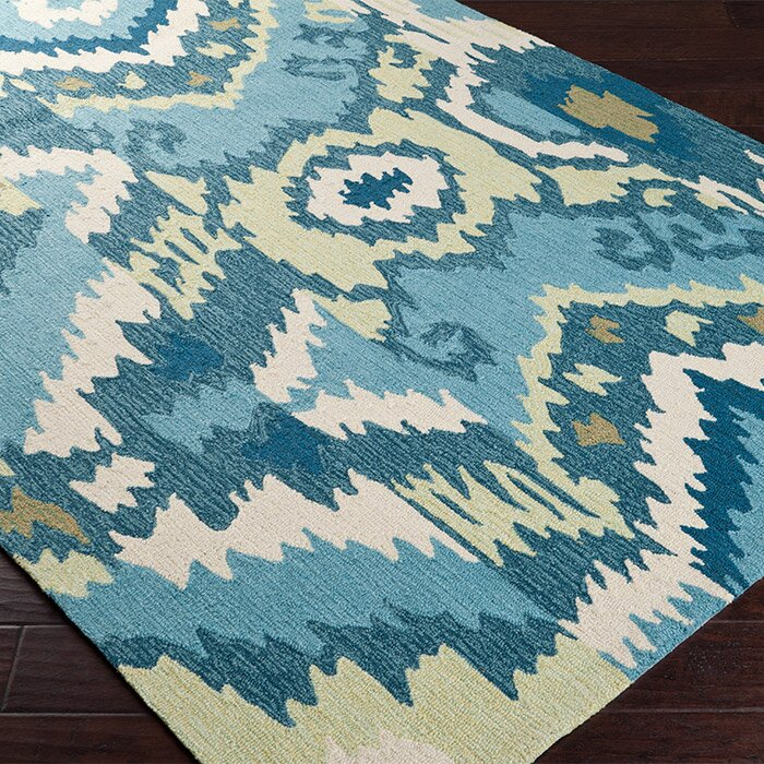 Surya Brentwood Teal Blue Area Rug & Reviews