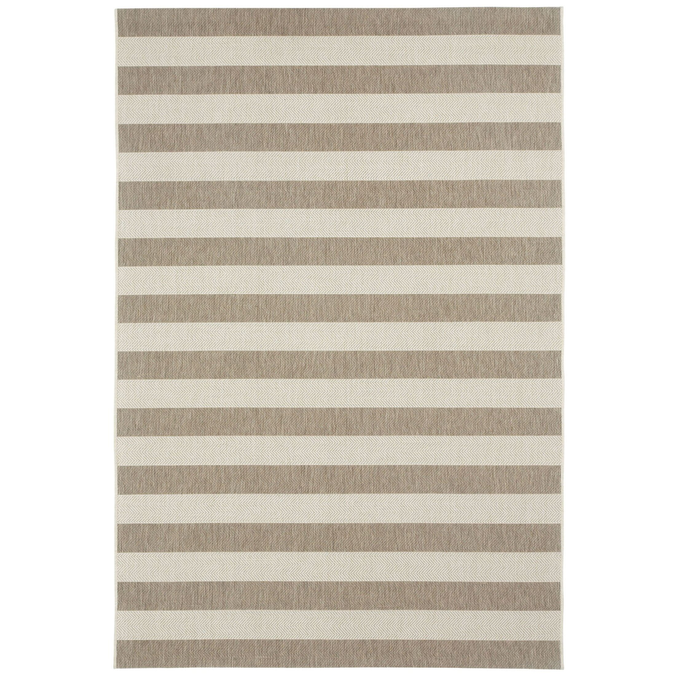Capel Elsinore Wheat Beige Striped Outdoor Area Rug