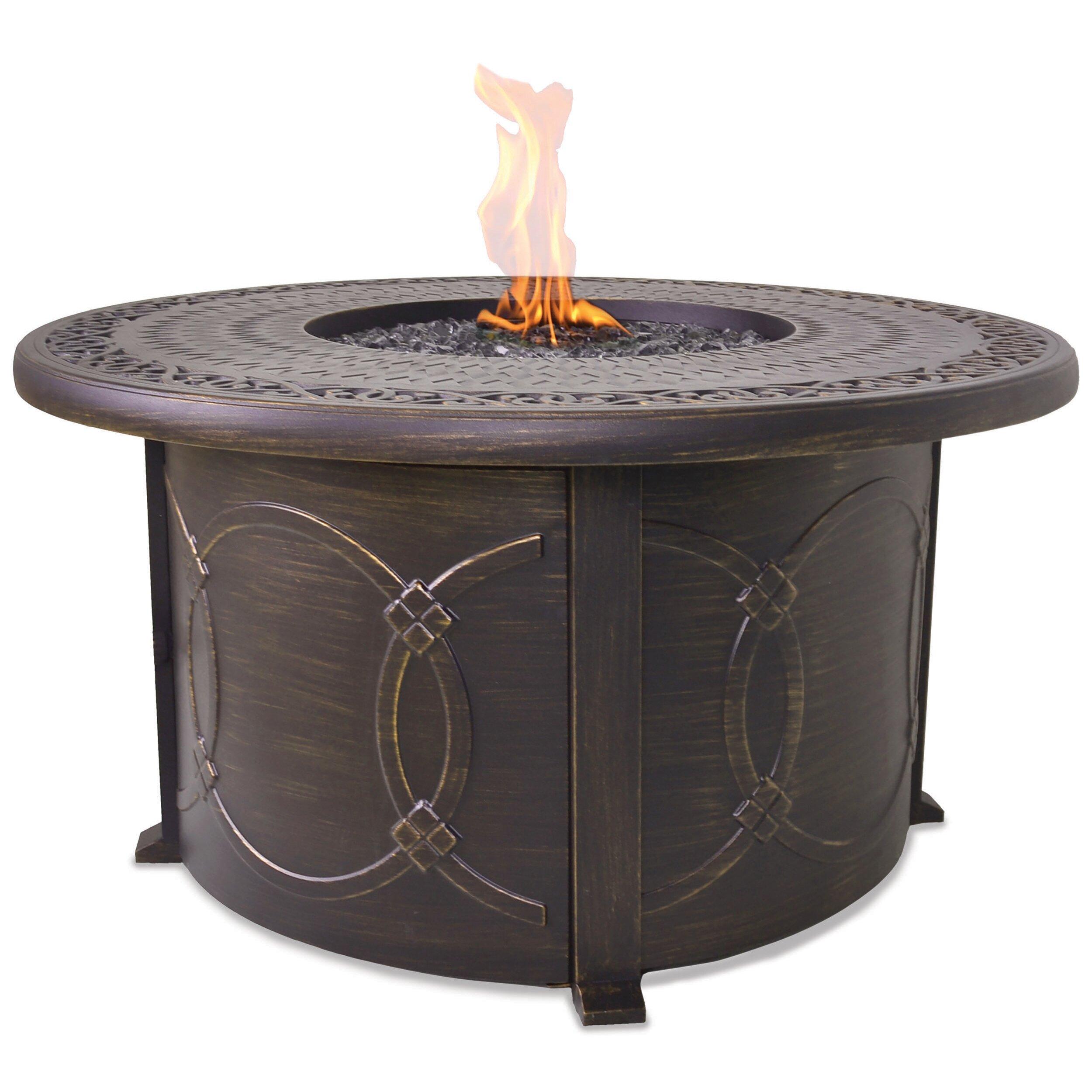 Endless Summer Cast Aluminum Propane Outdoor Fire Pit ...