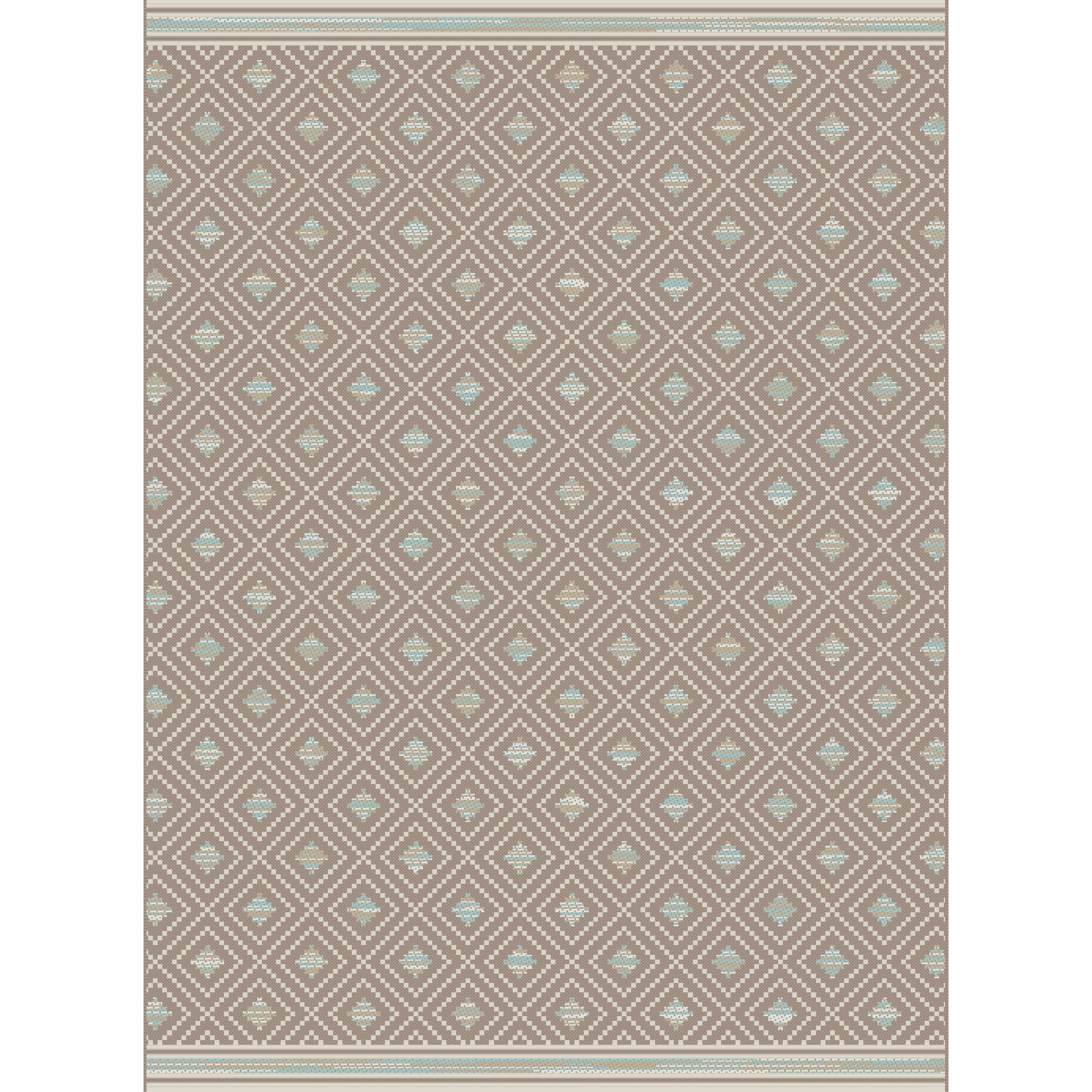 Dynamic rugs piazza brown indoor outdoor area rug for Indoor out door rugs