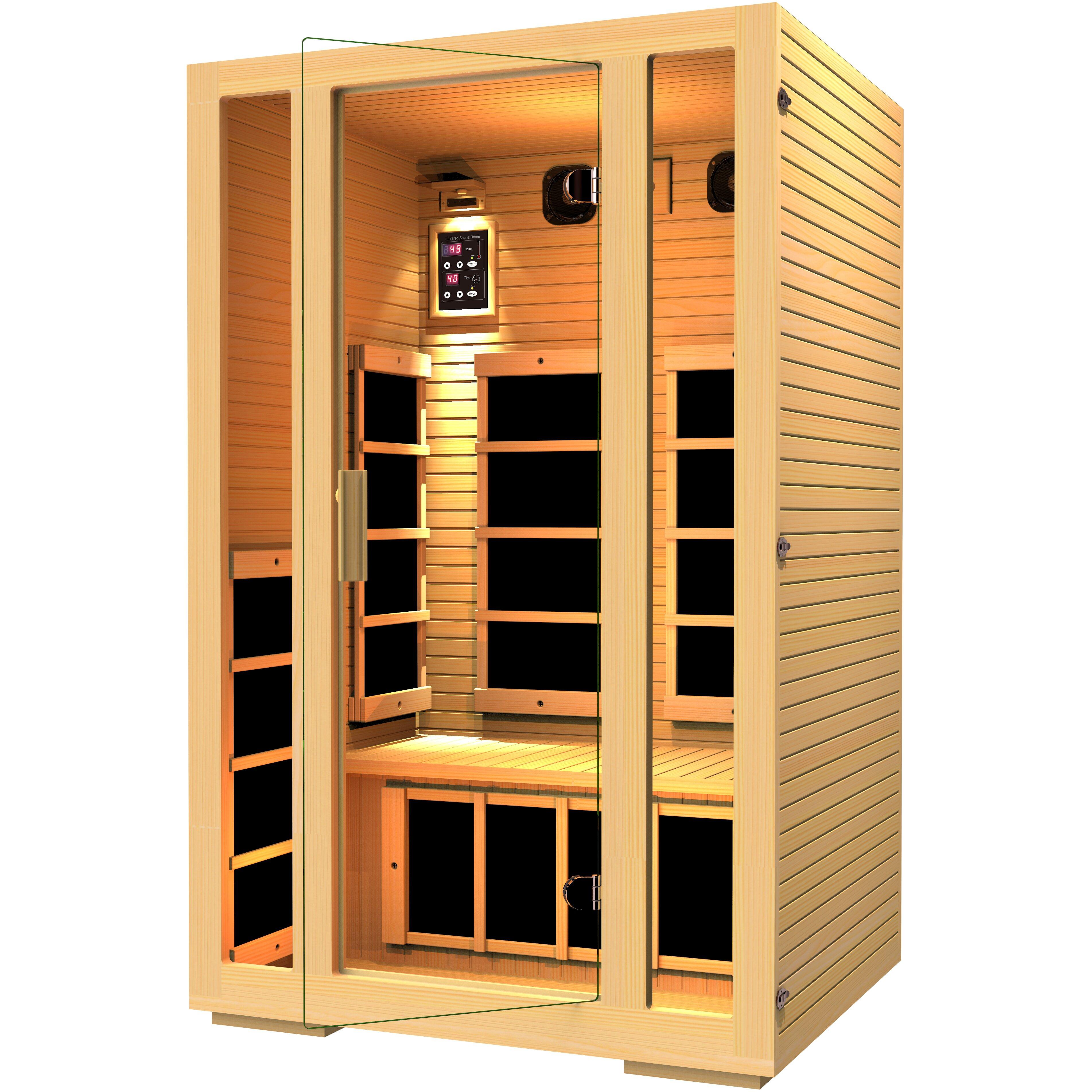 Jnh Lifestyles Joyous 2 Person Carbon Far Infrared Sauna