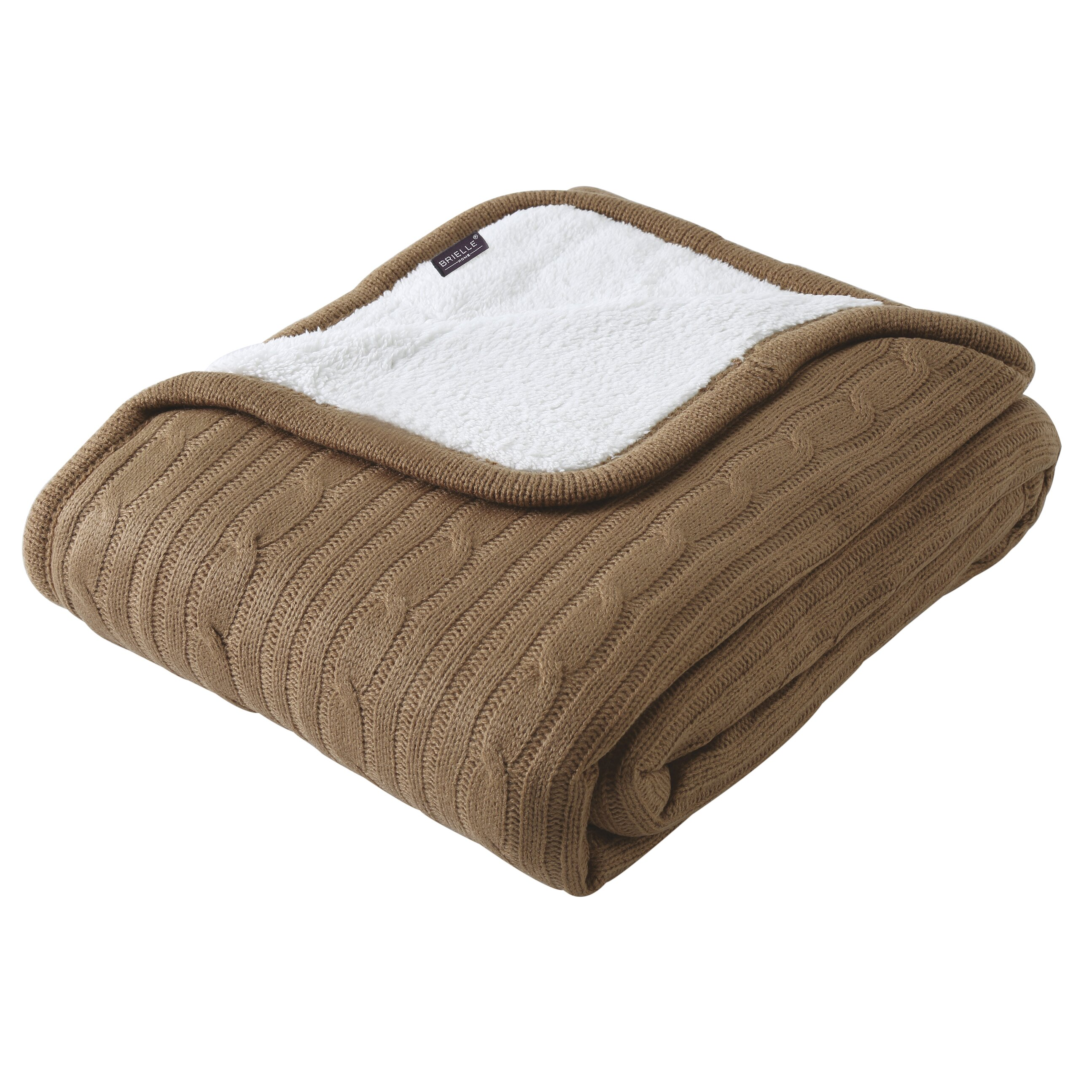 Brielle Cozy Cable Knit Throw Blanket Amp Reviews