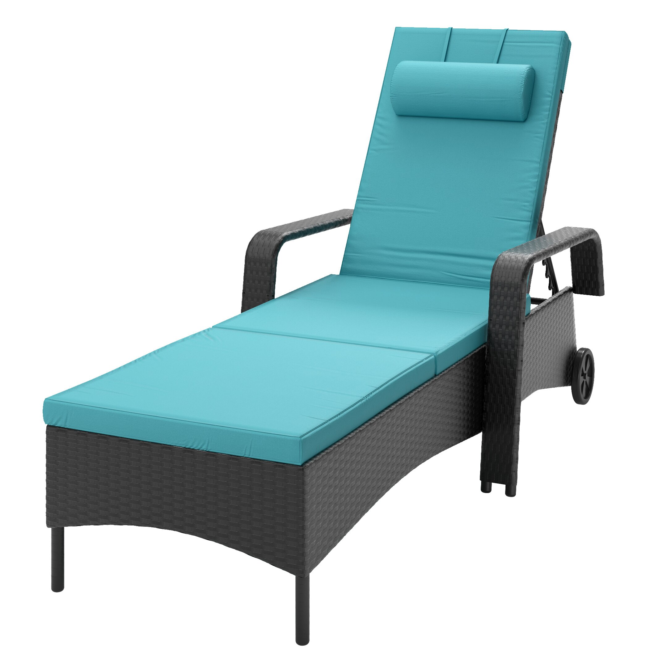 Dcor design riverside patio chaise lounge with cushion for Chaise lounge cushion sale