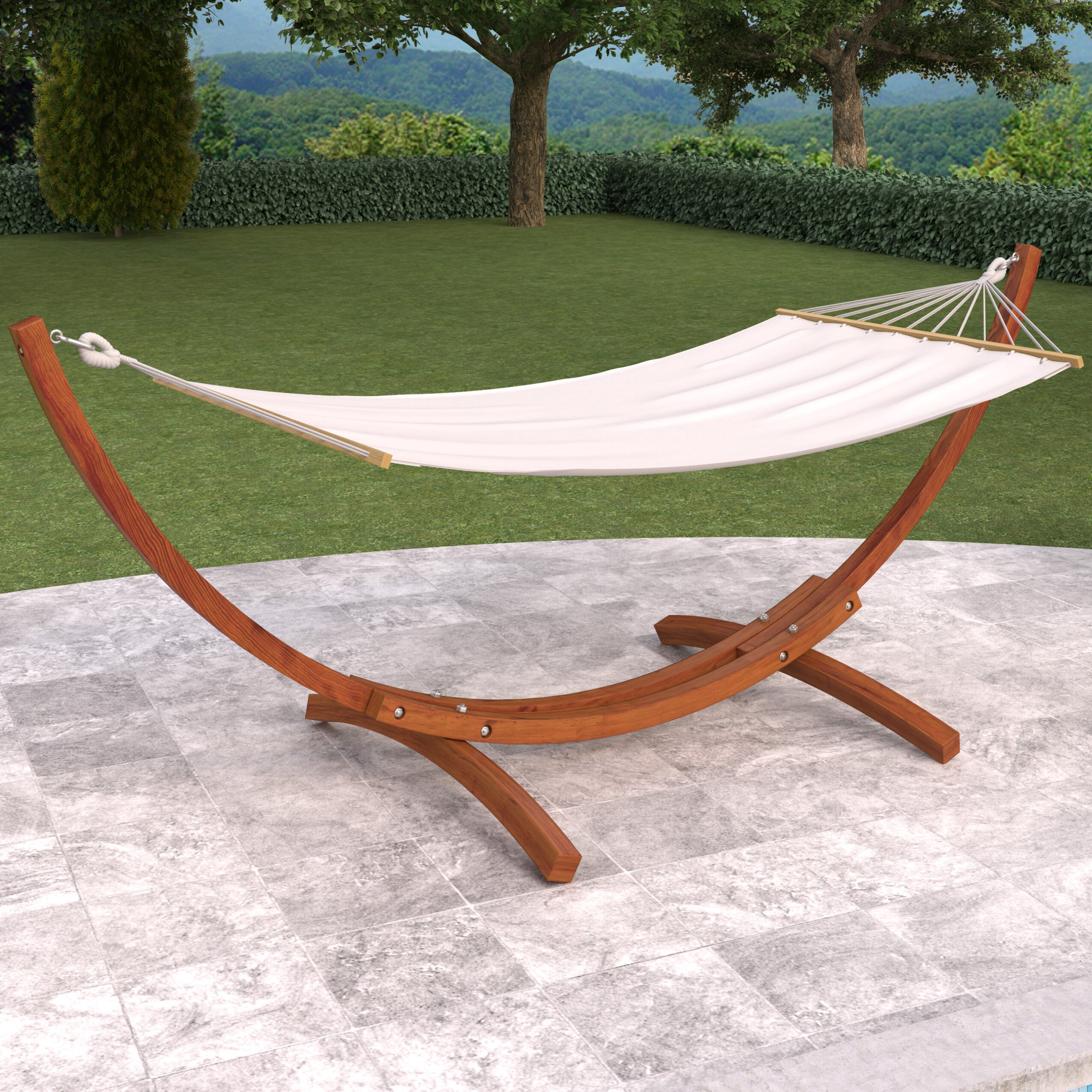 Backyard Hammock Reviews : dCOR design Wood Canyon Patio Hammock with Stand & Reviews  Wayfair