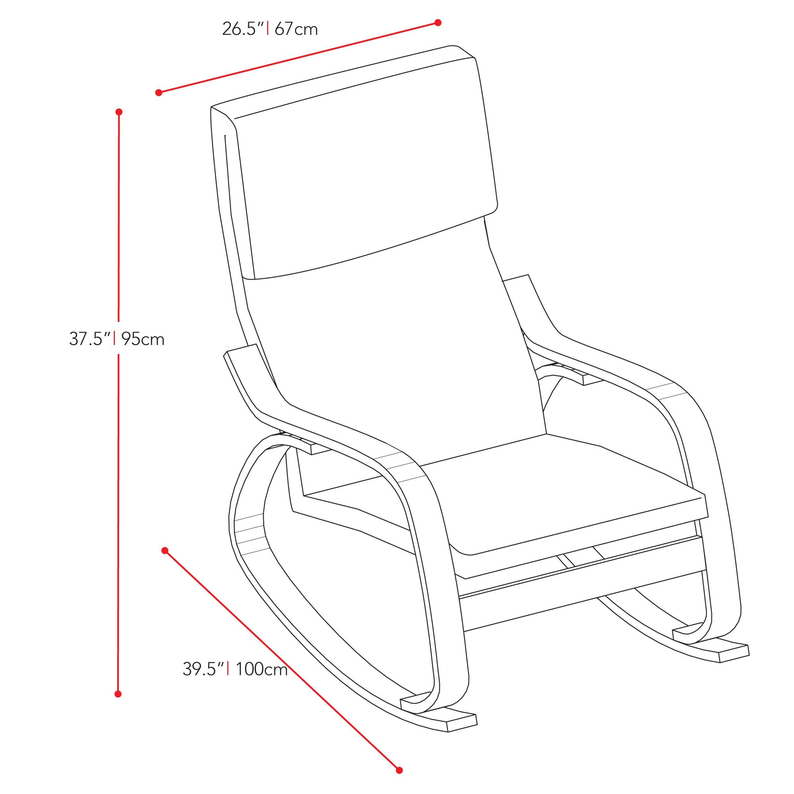 dcor design aquios rocking chair  u0026 reviews