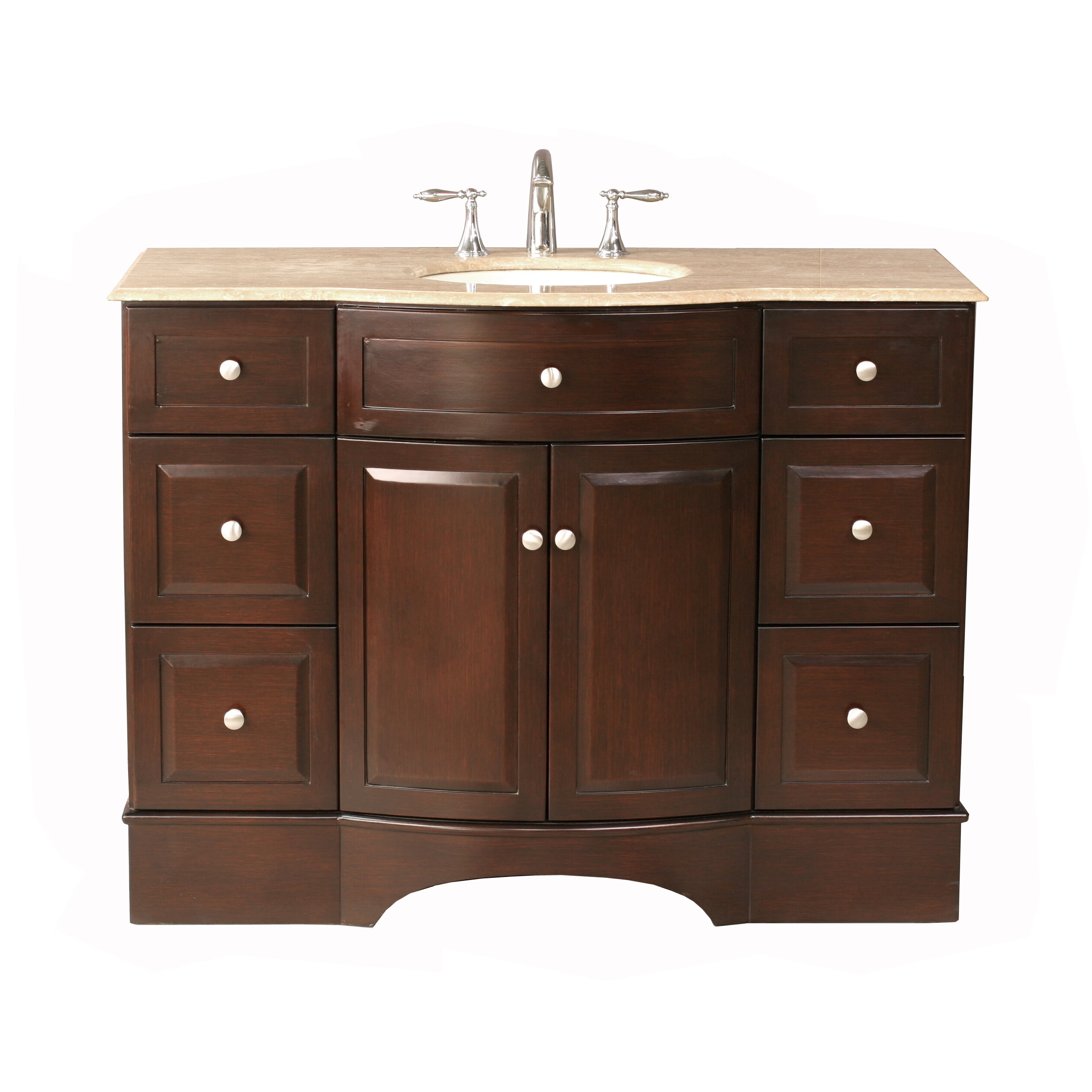 Dcor design dale 48 single bathroom vanity set with for 48 inch mirrored bathroom vanity