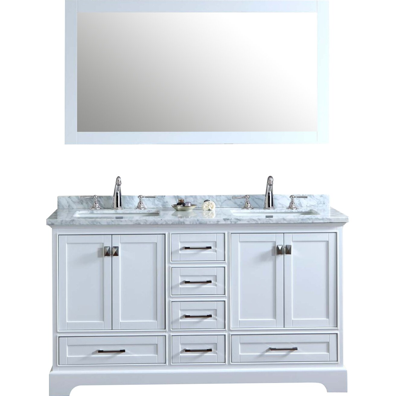Dcor Design Barrington 60 Double Sink Bathroom Vanity Set With Mirror Reviews Wayfair