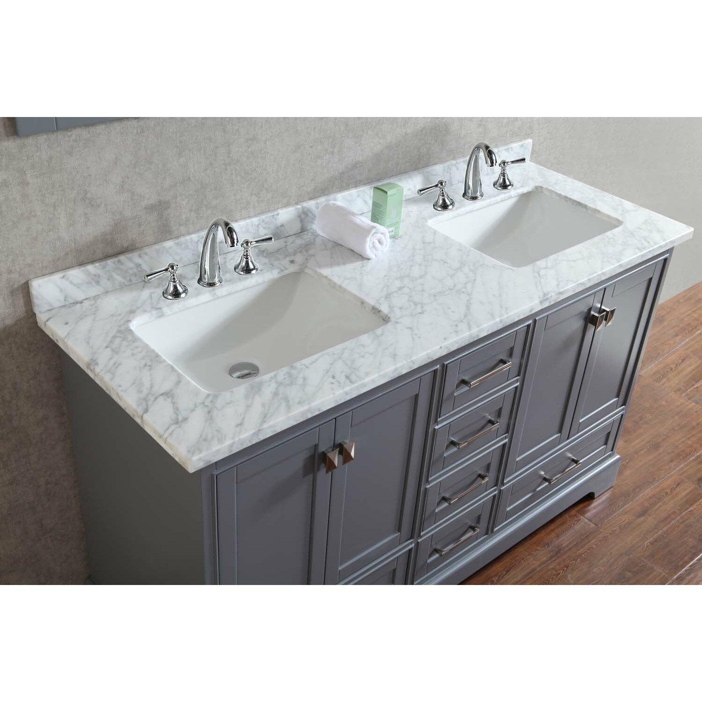 60 Double Sink Bathroom Vanity Set With Mirror Reviews Wayfair