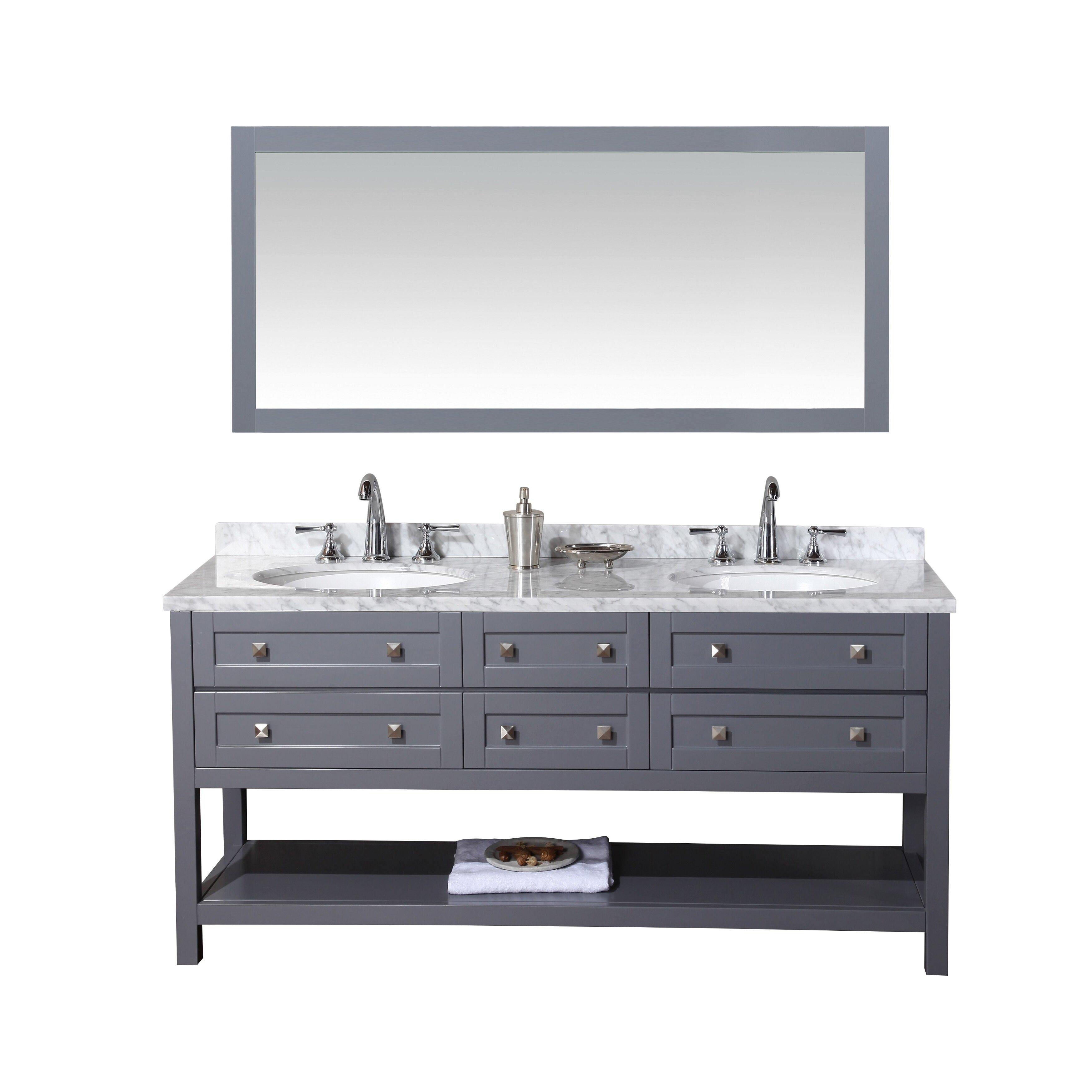 Dcor Design Albia 72 Double Modern Bathroom Vanity Set