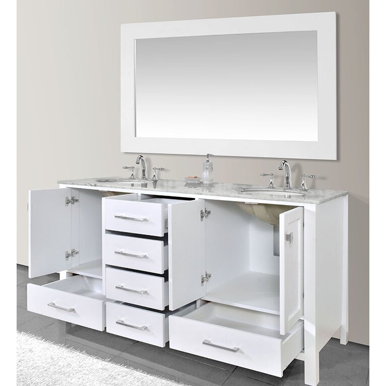 Dcor Design Embrey 72 Double Sink Bathroom Vanity With Mirror Wayfair