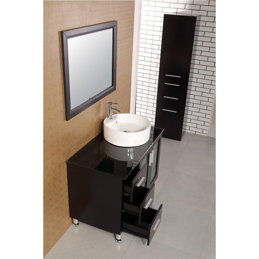 Dcor design palm springs 39 single modern bathroom vanity for Bathroom mirror set