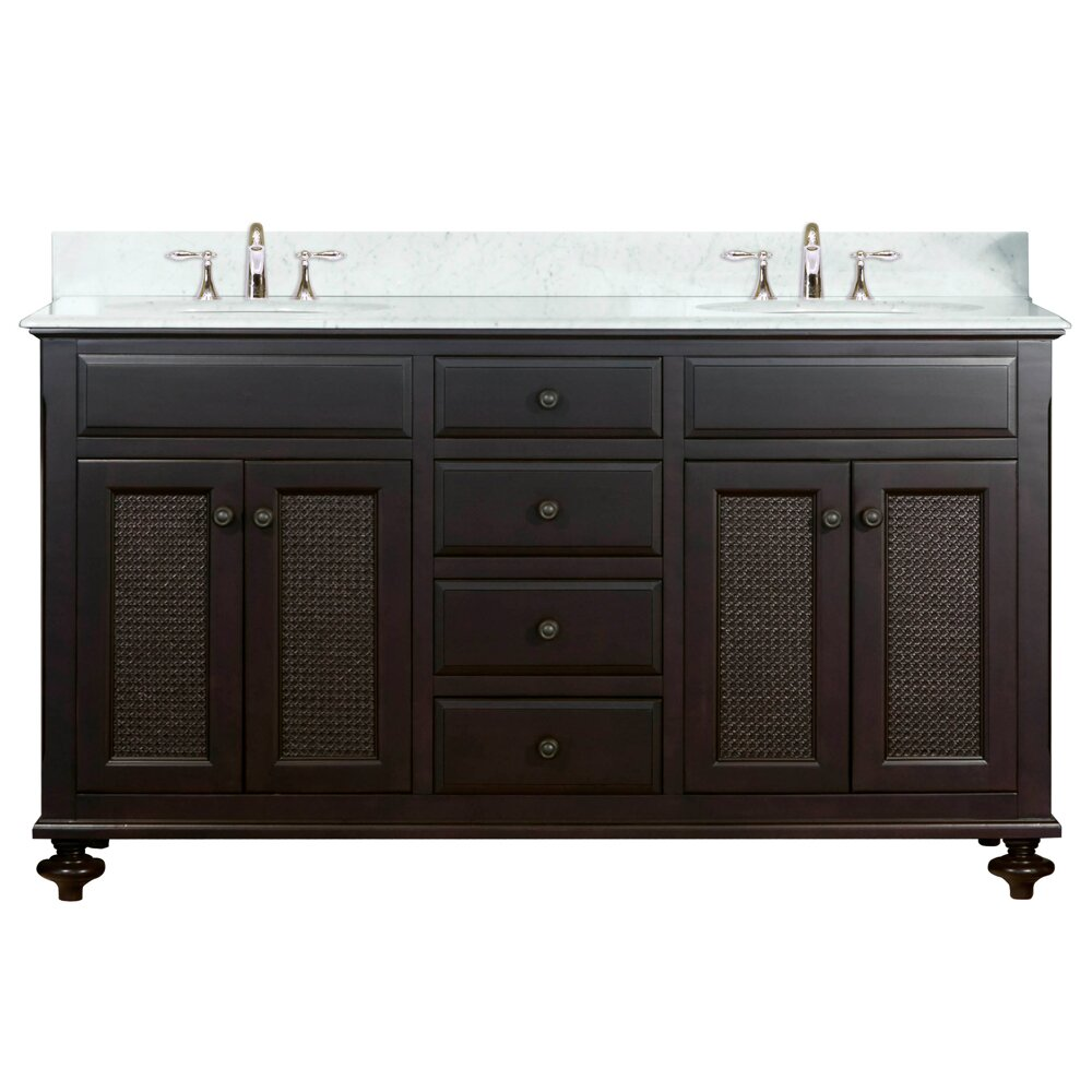 Dcor Design Carlson 60 Double Bathroom Vanity Set Reviews Wayfair