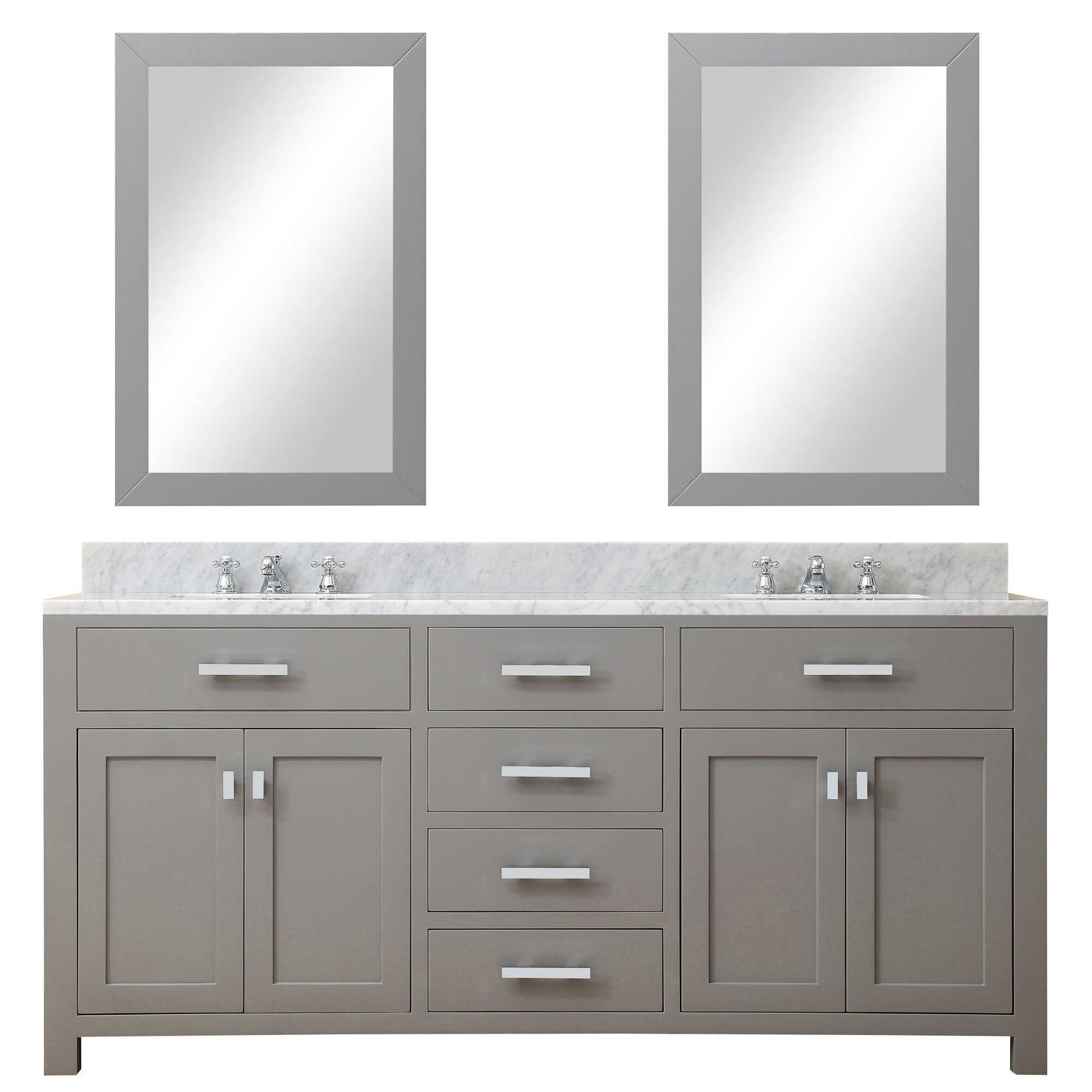 Dcor Design Creighton 72 Double Sink Bathroom Vanity Set With Mirror Wayfair