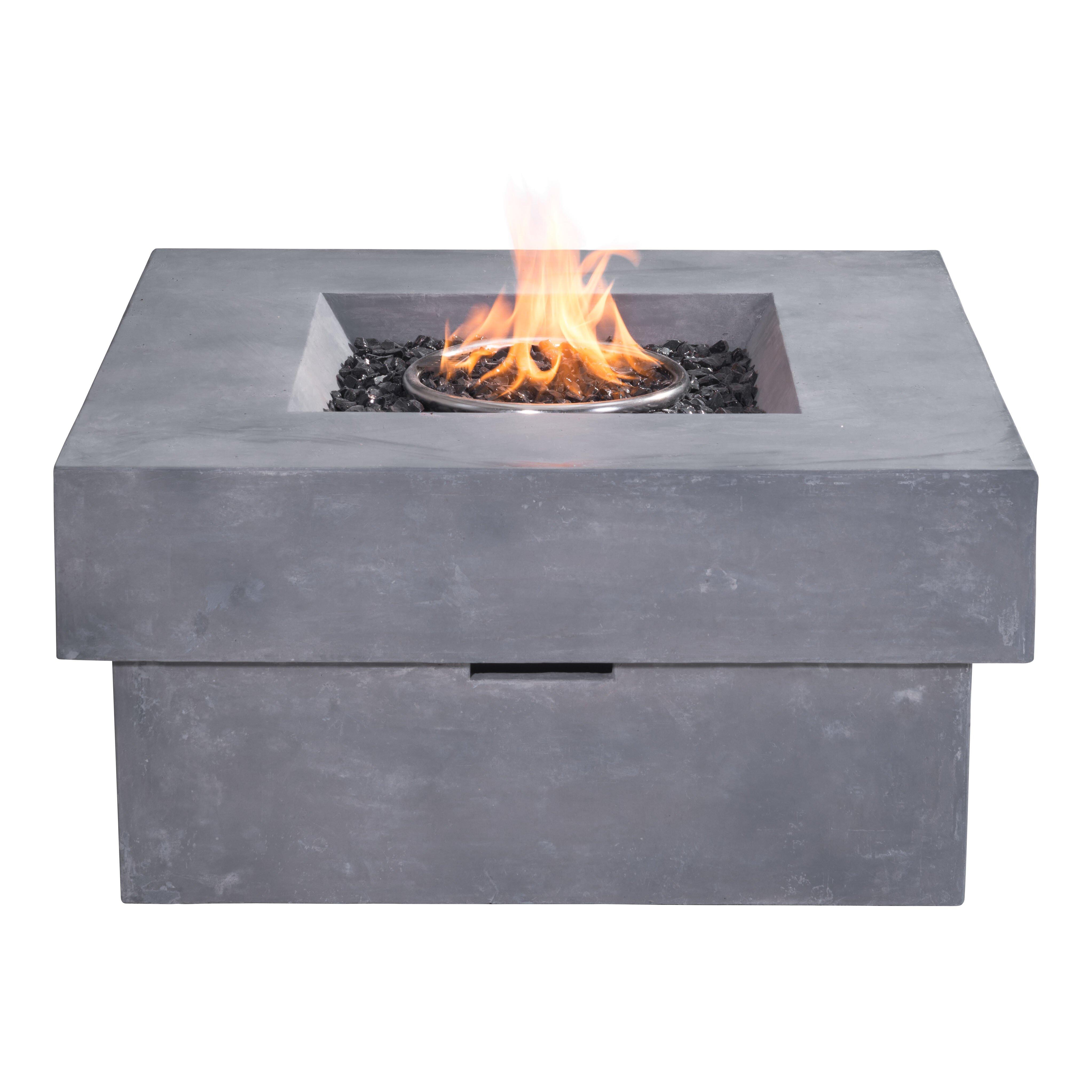 dcor design diablo concrete fiber propane fire pit table reviews wayfair. Black Bedroom Furniture Sets. Home Design Ideas