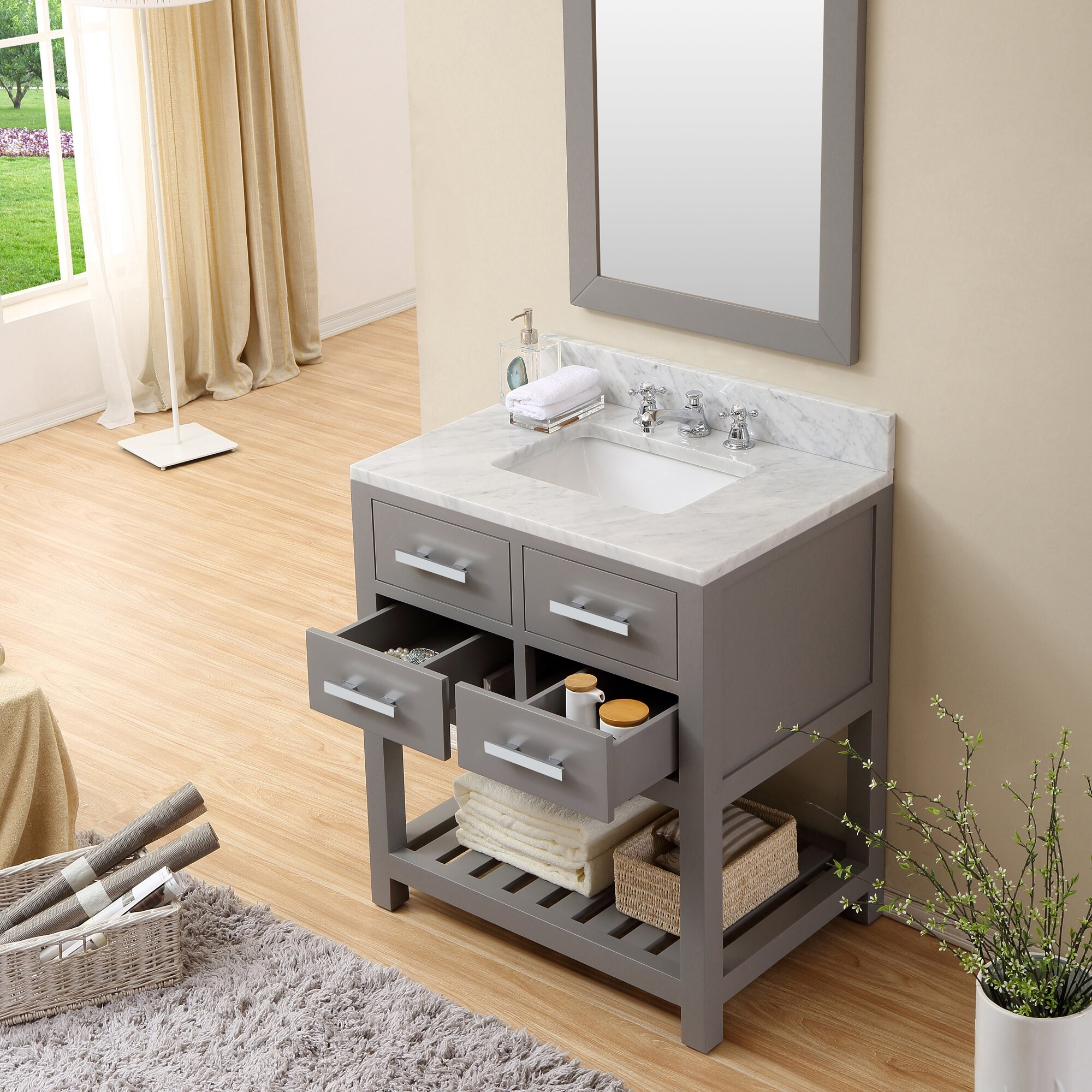 Dcor Design Creighton 30 Single Sink Bathroom Vanity Set