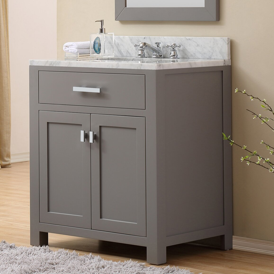 Dcor design creighton 30 single sink bathroom vanity set reviews wayfair Bathroom sink and vanity sets