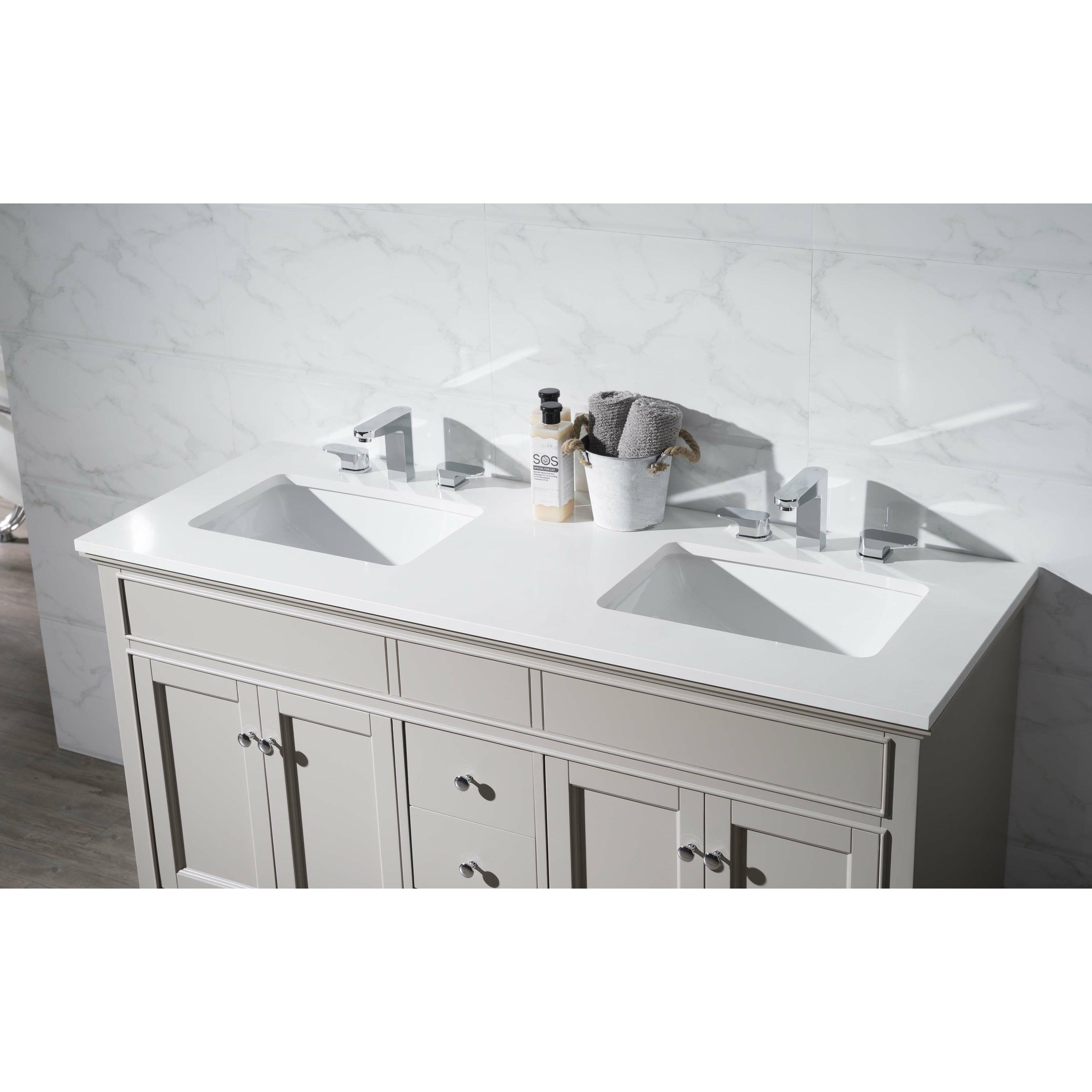 Dcor Design Leola 59 Double Sink Bathroom Vanity Set Reviews Wayfair