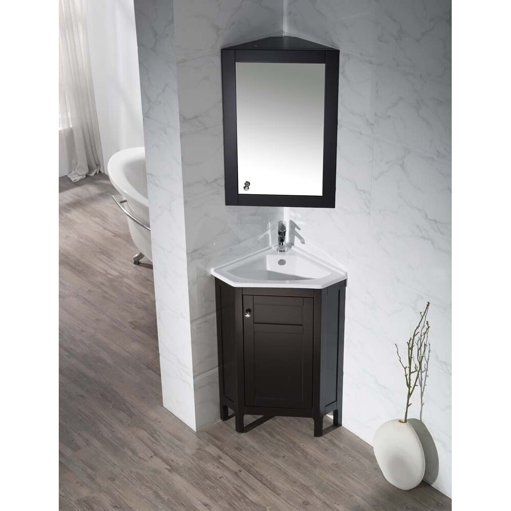 Dcor Design Millard Single Corner Bathroom Vanity Set With Mirror Reviews