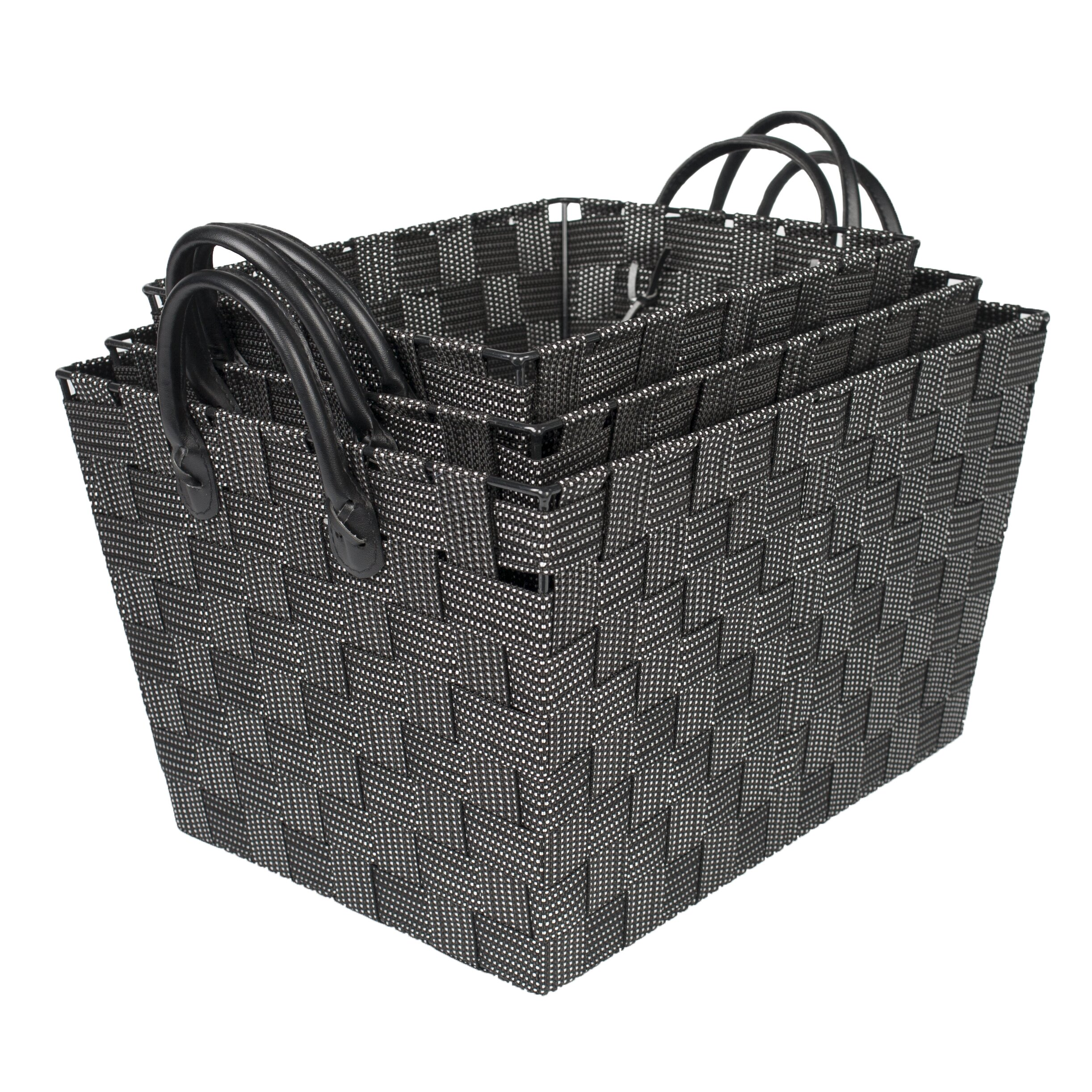 Woven Storage Baskets With Handles : Sweet home collection piece woven storage baskets with