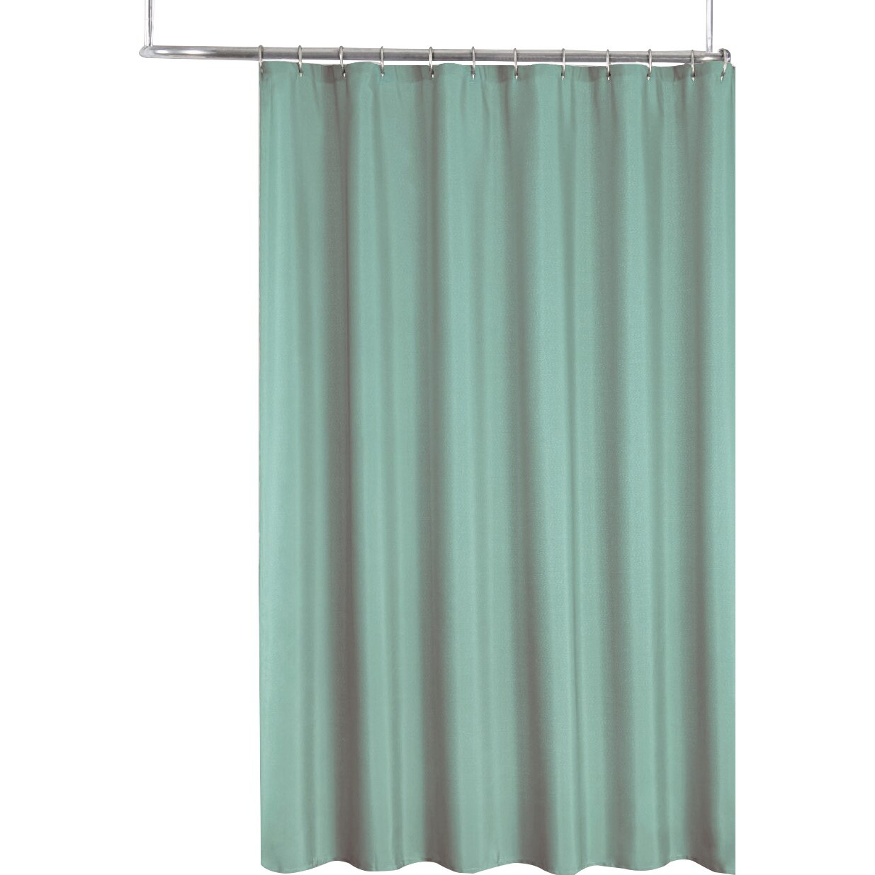 Sweet Home Collection 2 In 1 Waterproof Shower Curtain