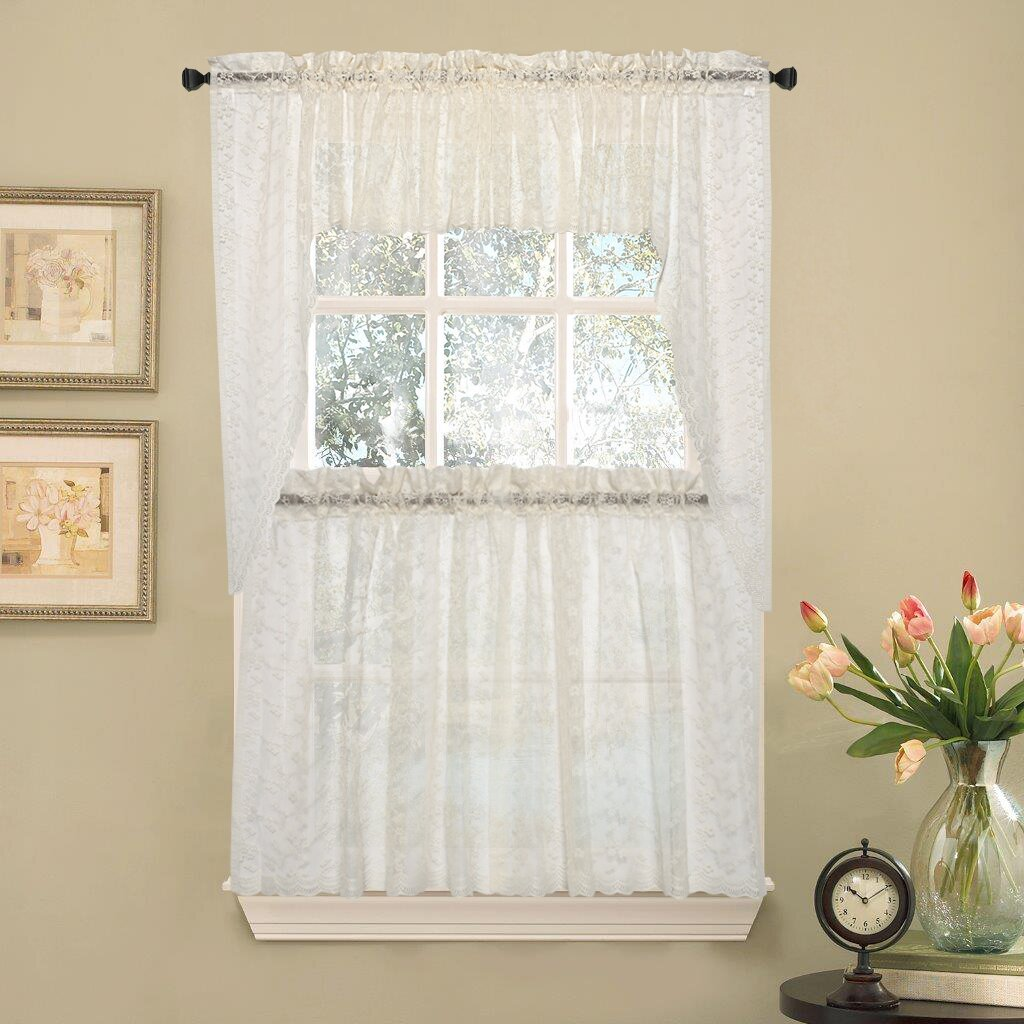 Elegant Kitchen Curtains Valances: Sweet Home Collection Elegant Priscilla Lace Kitchen 29