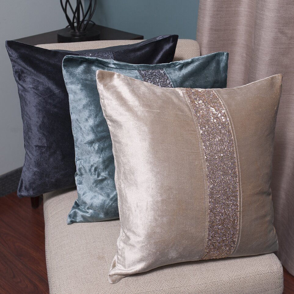 Luxury Decorative Pillow Collection : Sweet Home Collection Luxury Zippered Sequin Stripe Decorative Throw Pillow & Reviews Wayfair.ca