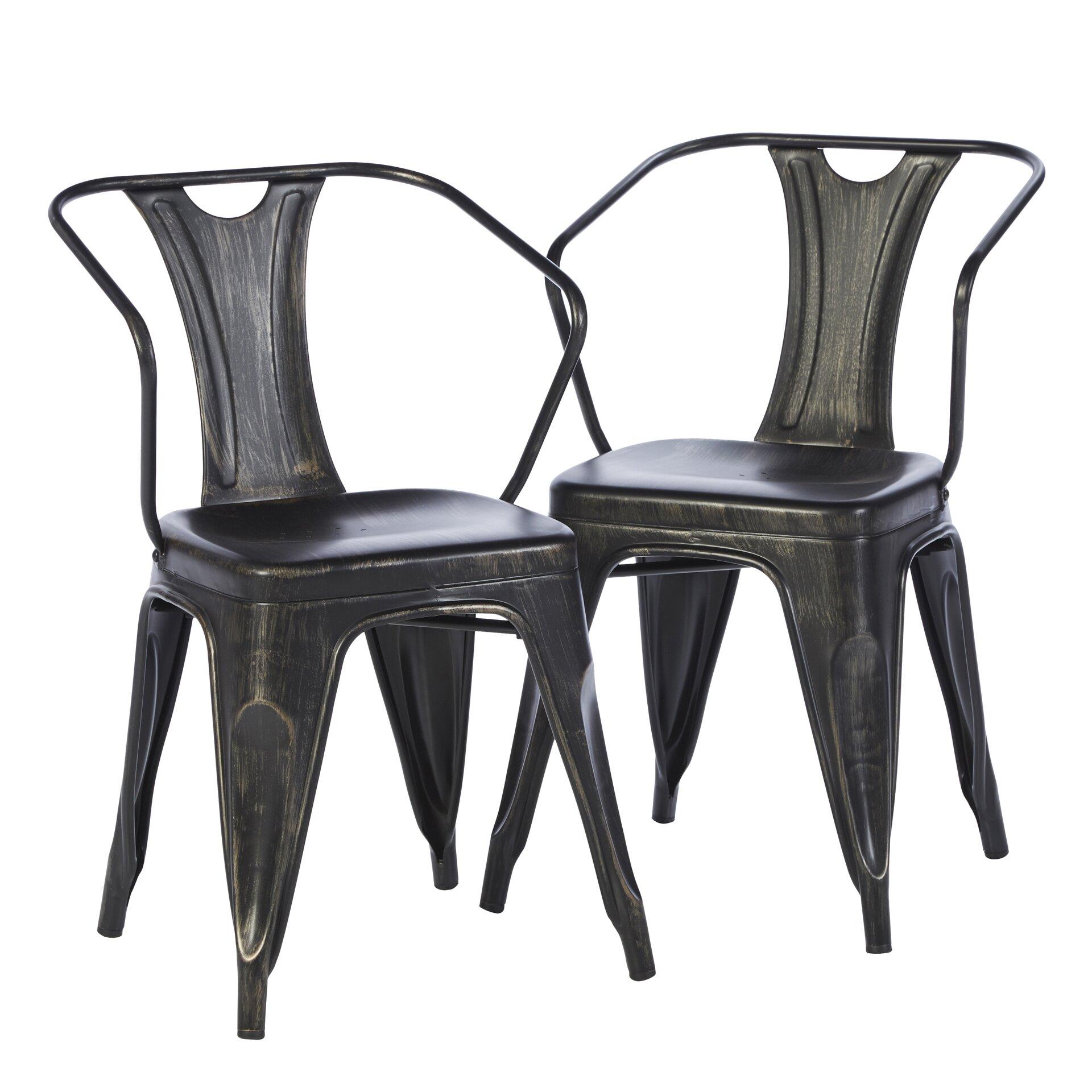 Mercury row industrial arm chair reviews wayfair
