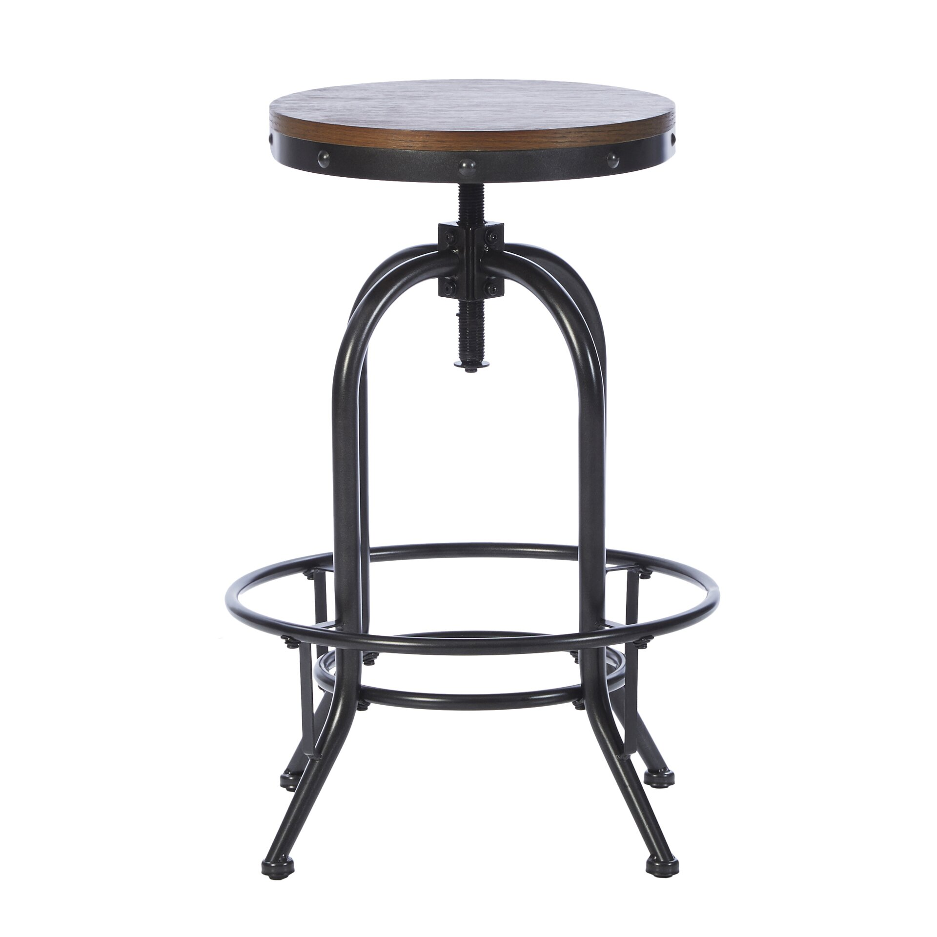 mercury row adjustable height swivel bar stool reviews wayfair. Black Bedroom Furniture Sets. Home Design Ideas