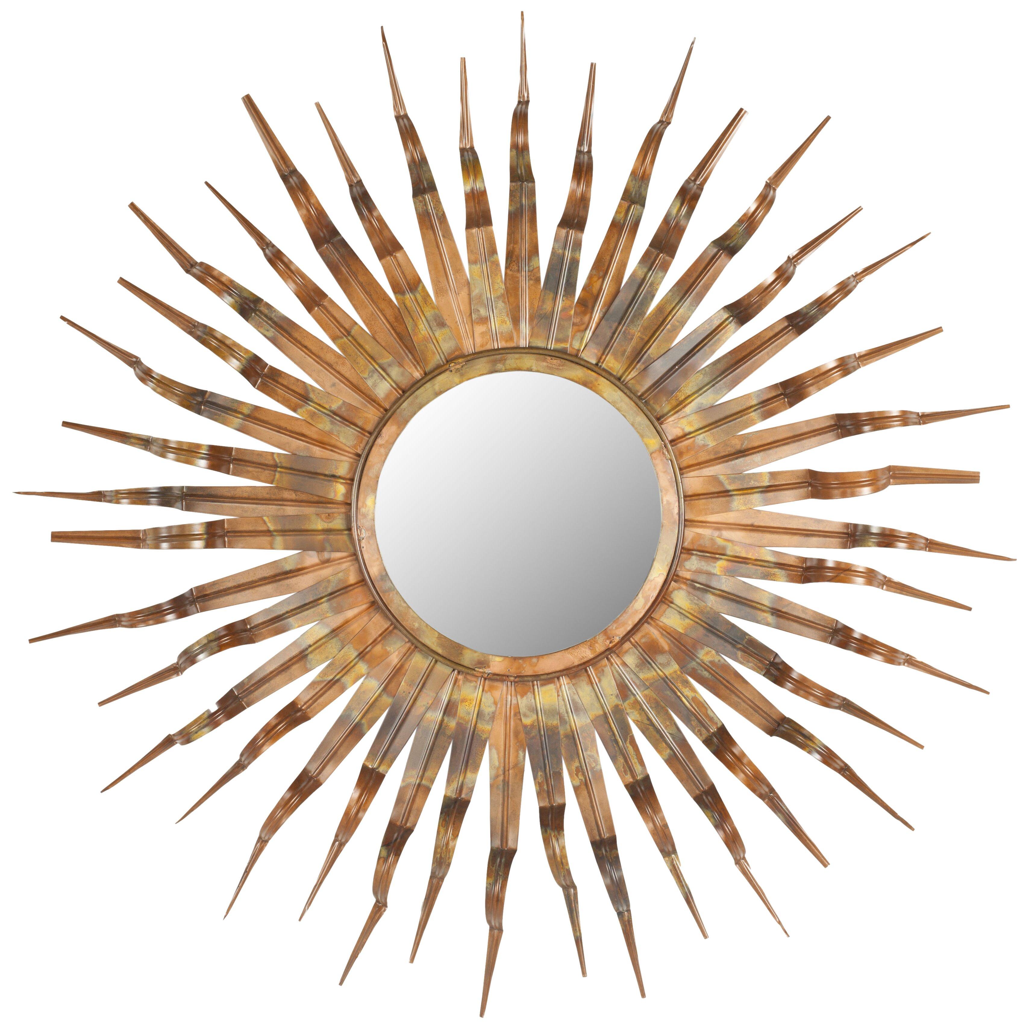 Mercury row ziek sunburst mirror reviews wayfair for Sunburst mirror