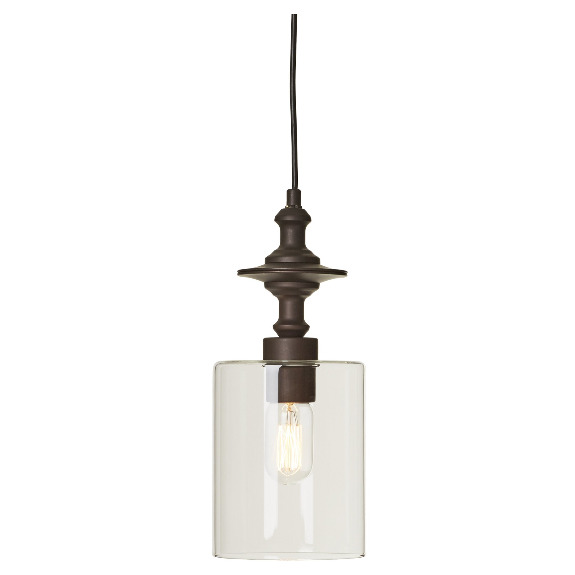 Mercury row zahra 1 light pendant reviews wayfair supply for Wayfair industrial lamp