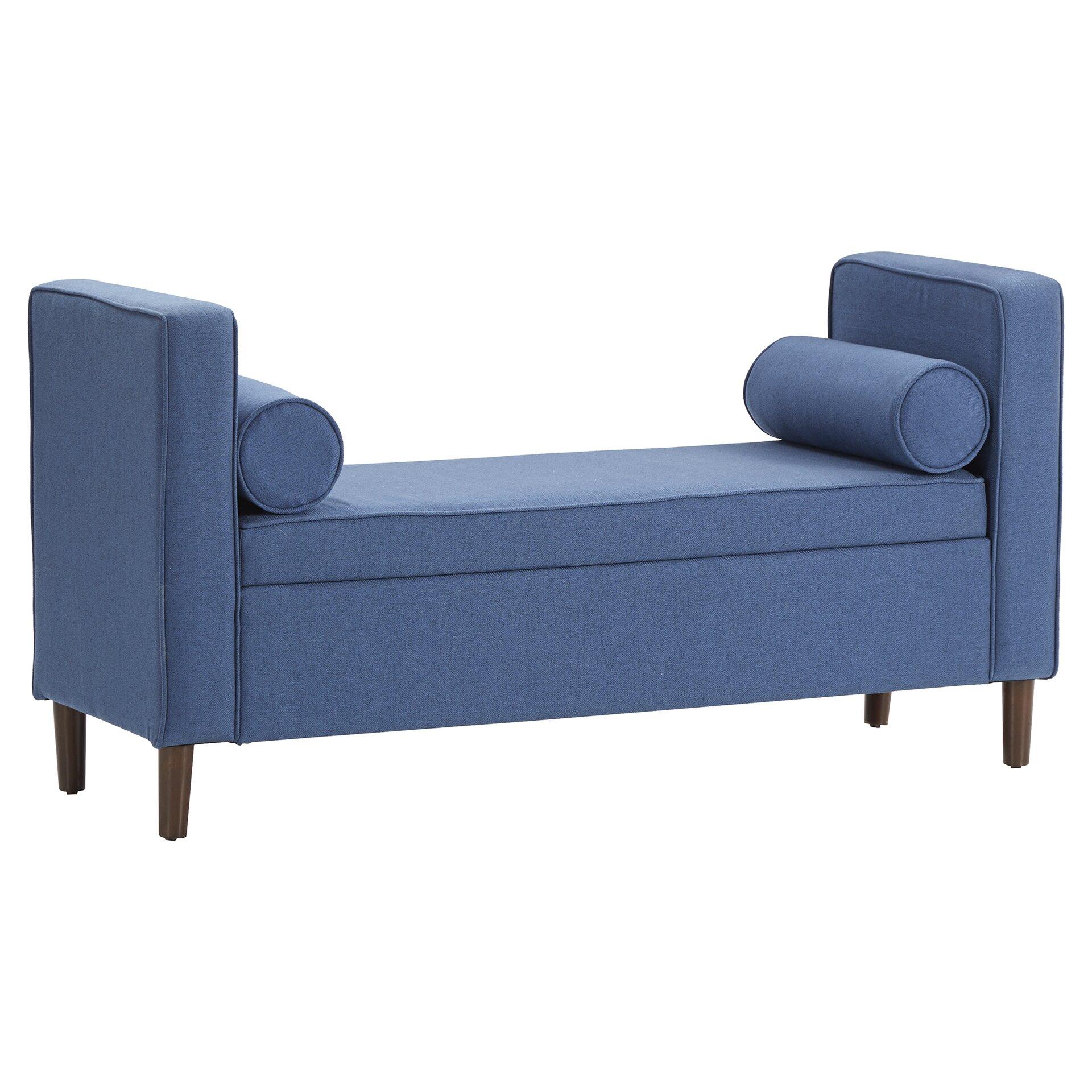 Mercury Row Rimo Upholstered Storage Bench Reviews Wayfair