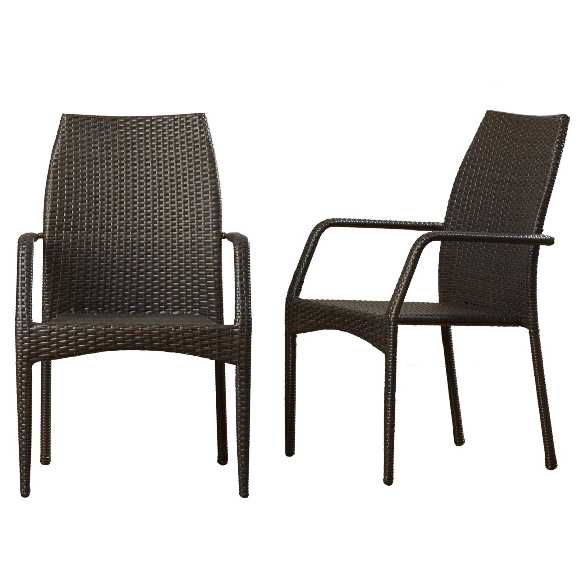 Mercury Row Herod Stacking Dining Arm Chair Reviews Wayfair