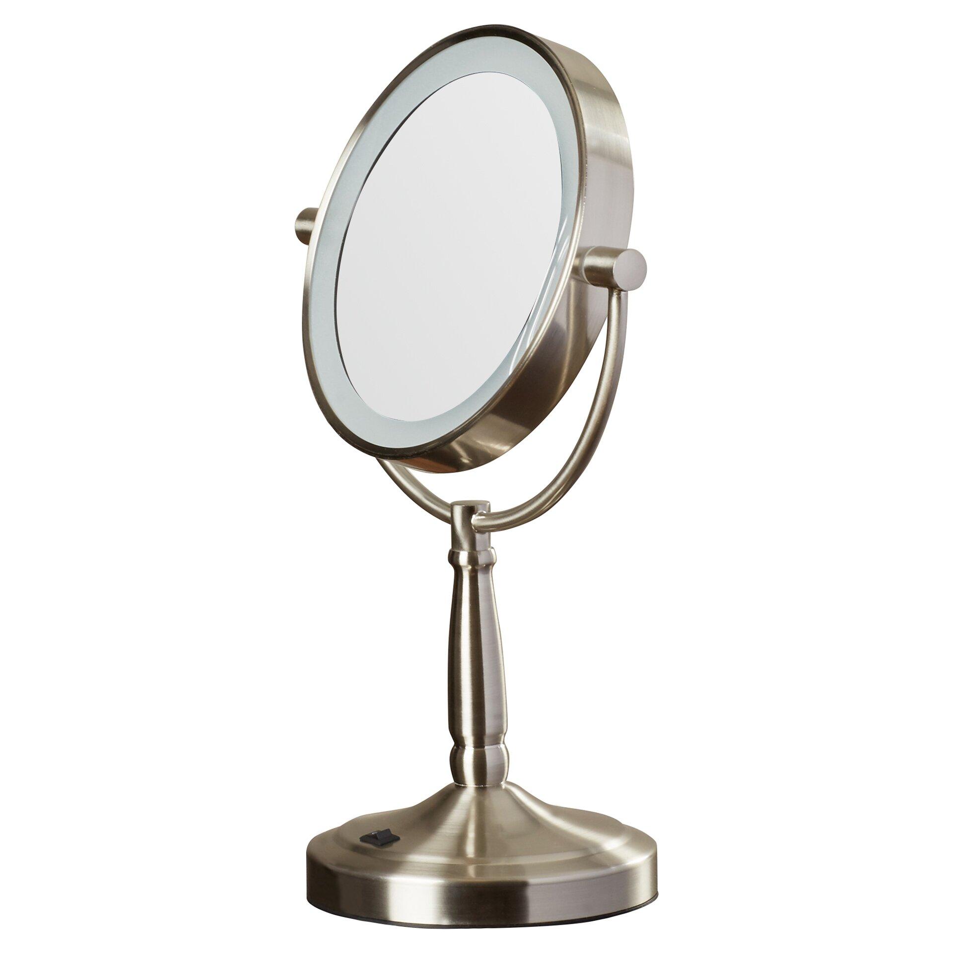 mercury row hedy vanity mirror with led surround light reviews wayfair. Black Bedroom Furniture Sets. Home Design Ideas