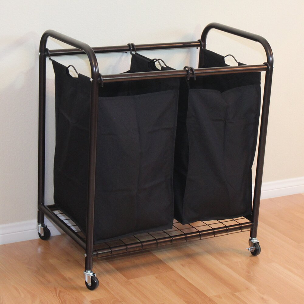 Mercury Row 2 Bag Rolling Laundry Sorter u0026 Reviews : Wayfair
