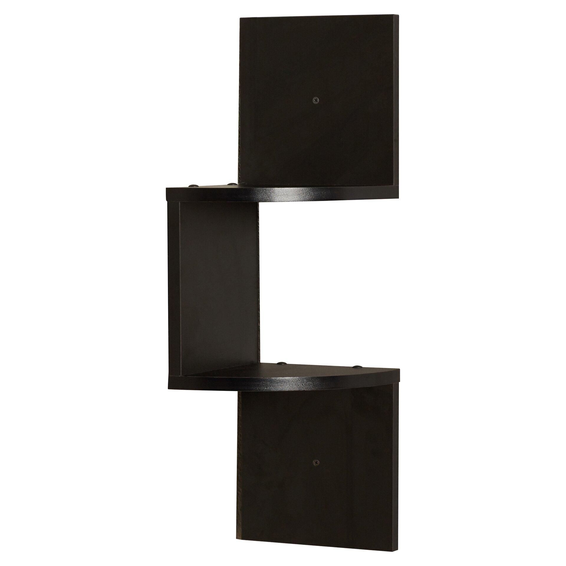 Mercury Row Giedi Corner Wall Shelf In Black Reviews
