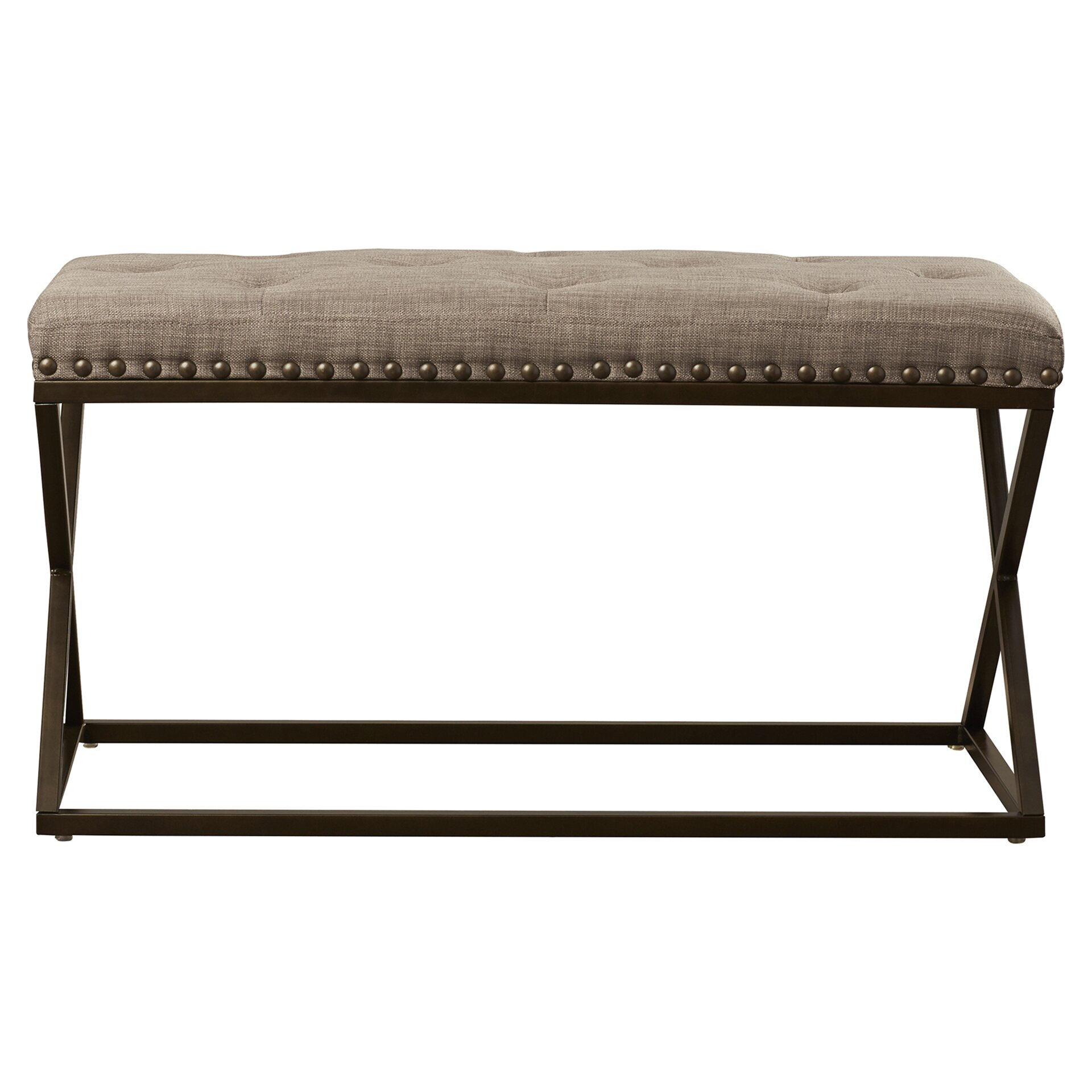 Mercury row tau upholstered bedroom bench reviews wayfair for Bedroom upholstered bench