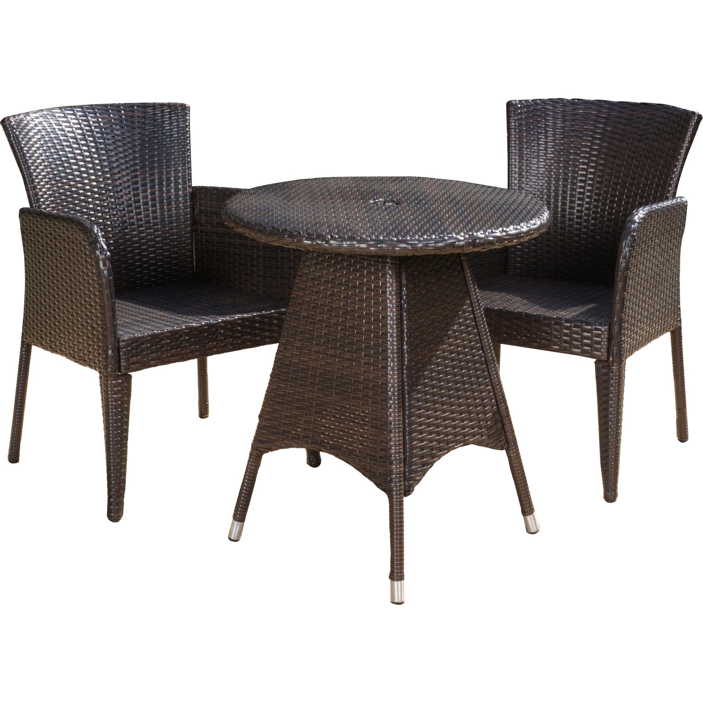 mercury row damianos 3 piece dining set reviews wayfair. Black Bedroom Furniture Sets. Home Design Ideas