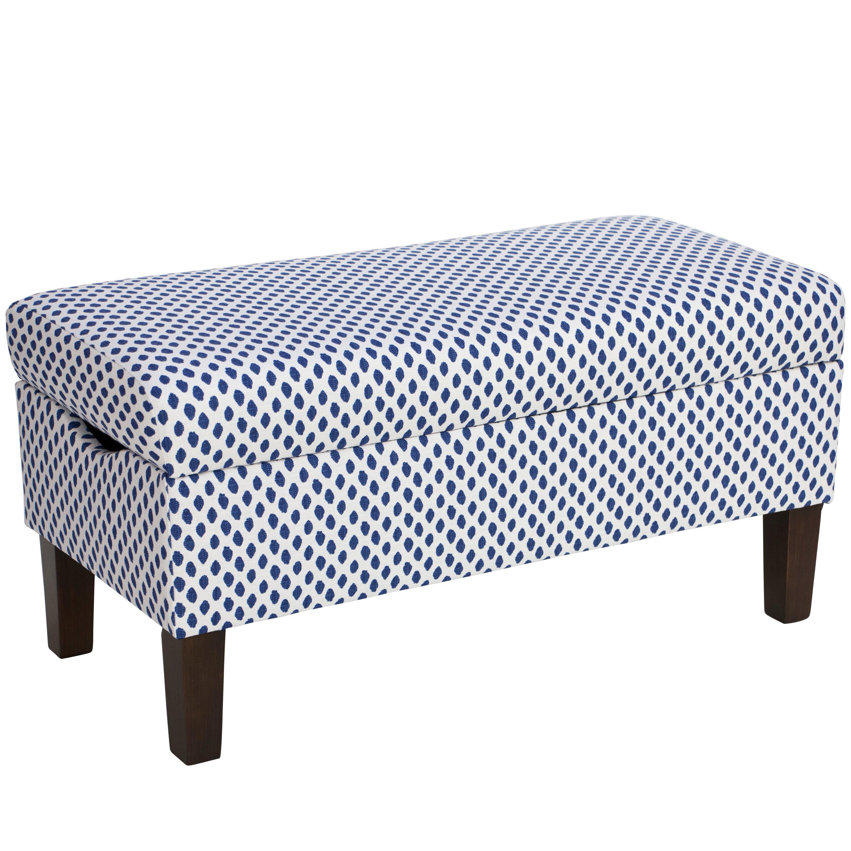 Mercury Row Abington Cotton Upholstered Storage Bedroom Bench Wayfair