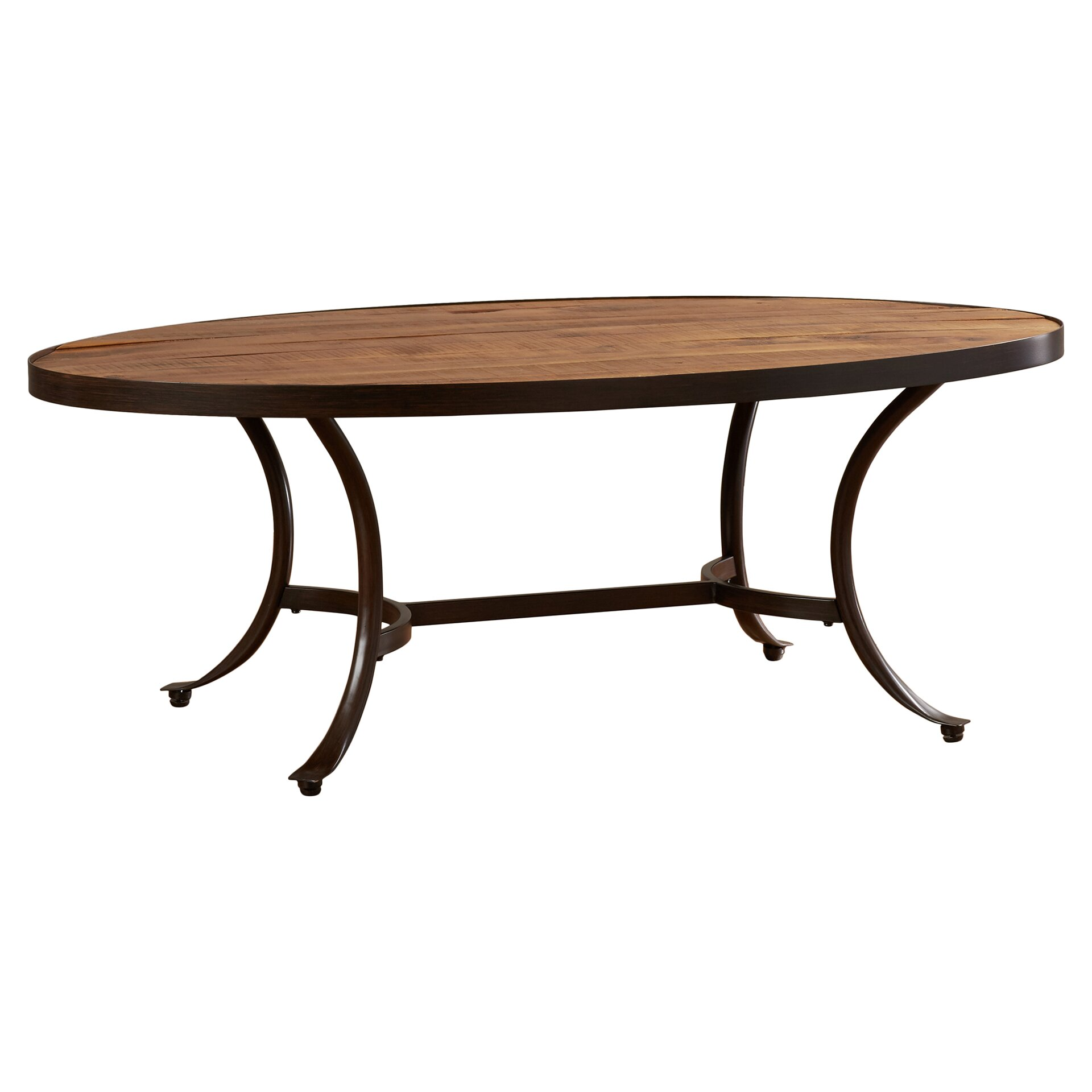 Mercury row ceres oval coffee table reviews Furniture row coffee table