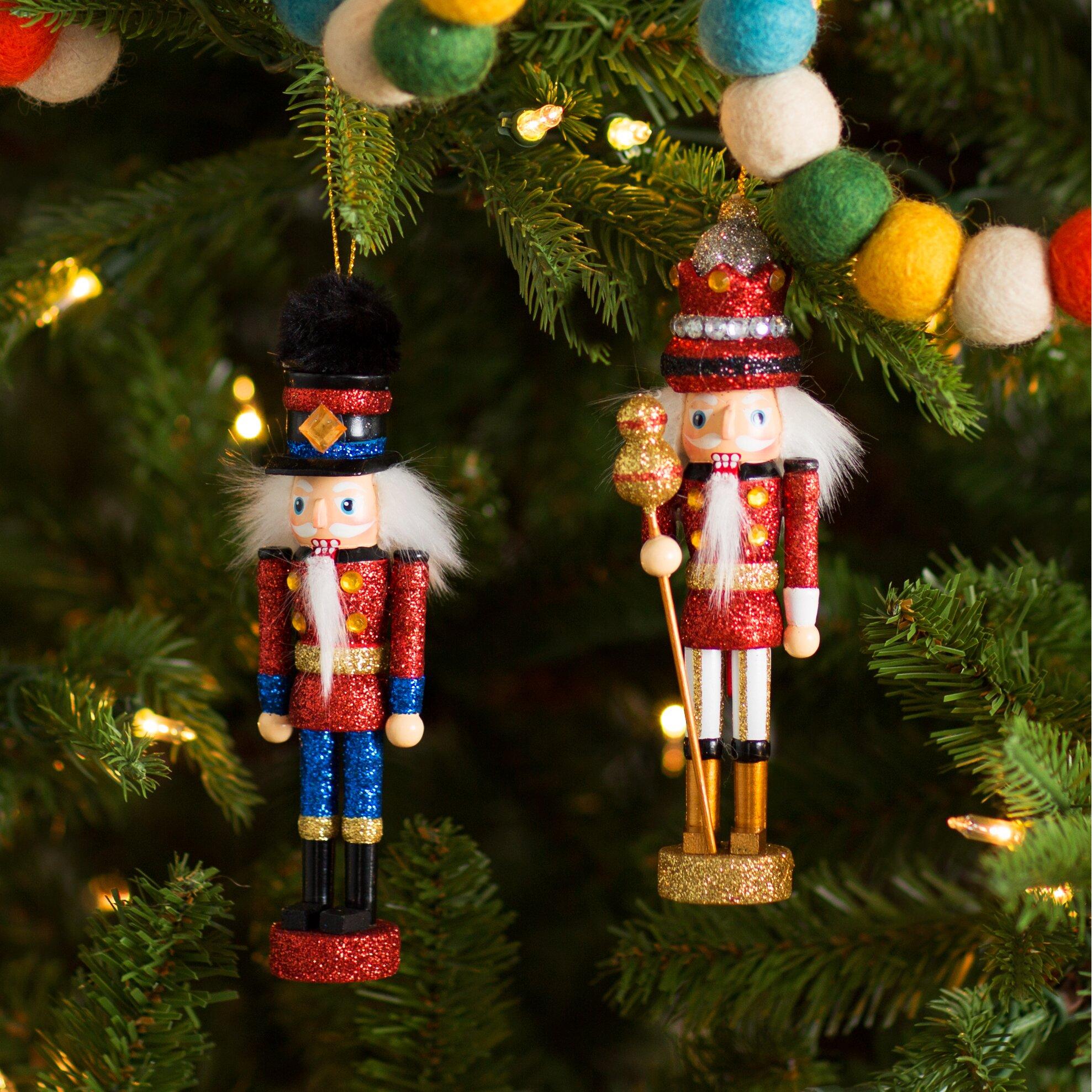 Mercury row piece king and soldier nutcracker ornament