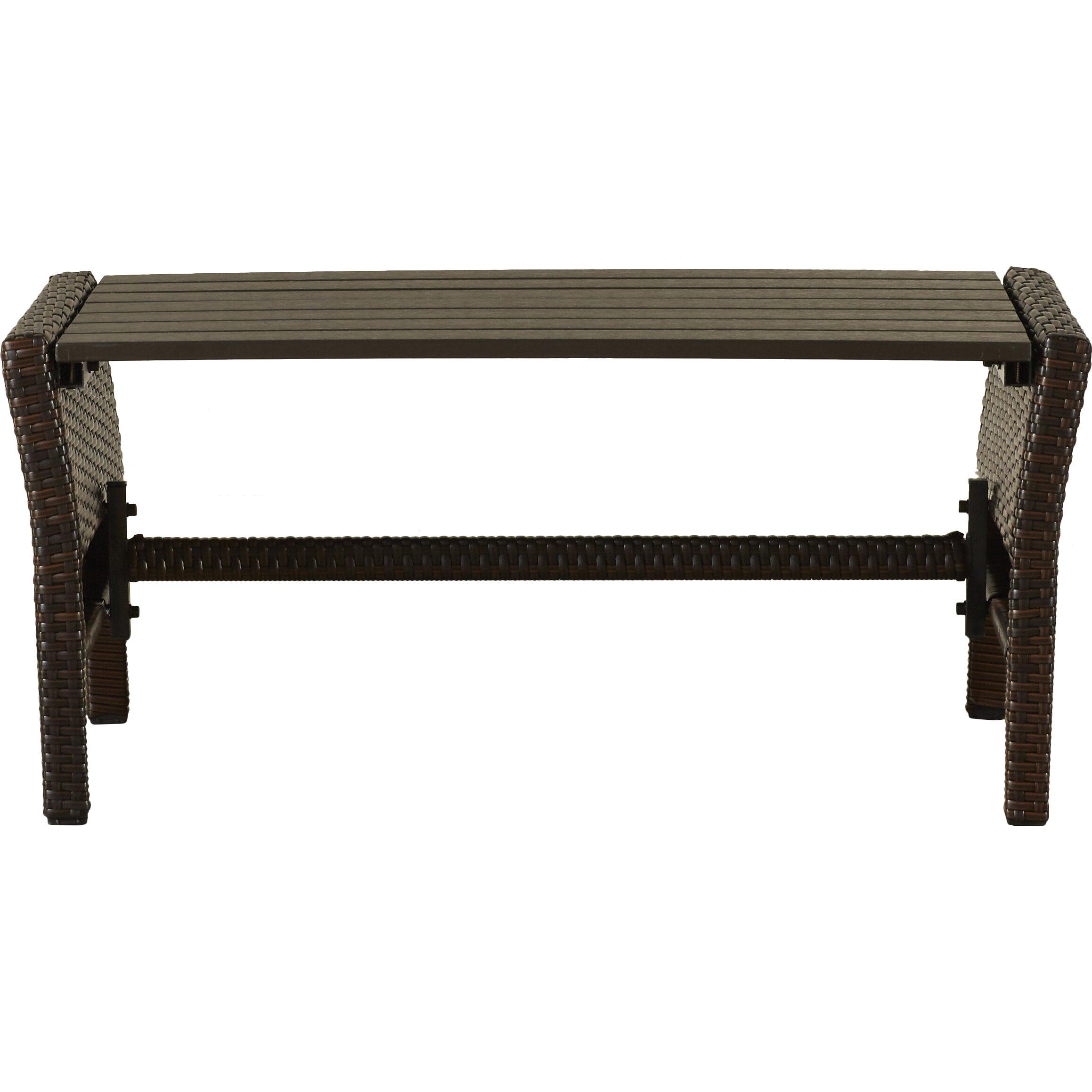 Mercury Row Lachesis 4 Piece Bench Seating Group with Cushion u0026 Reviews : Wayfair