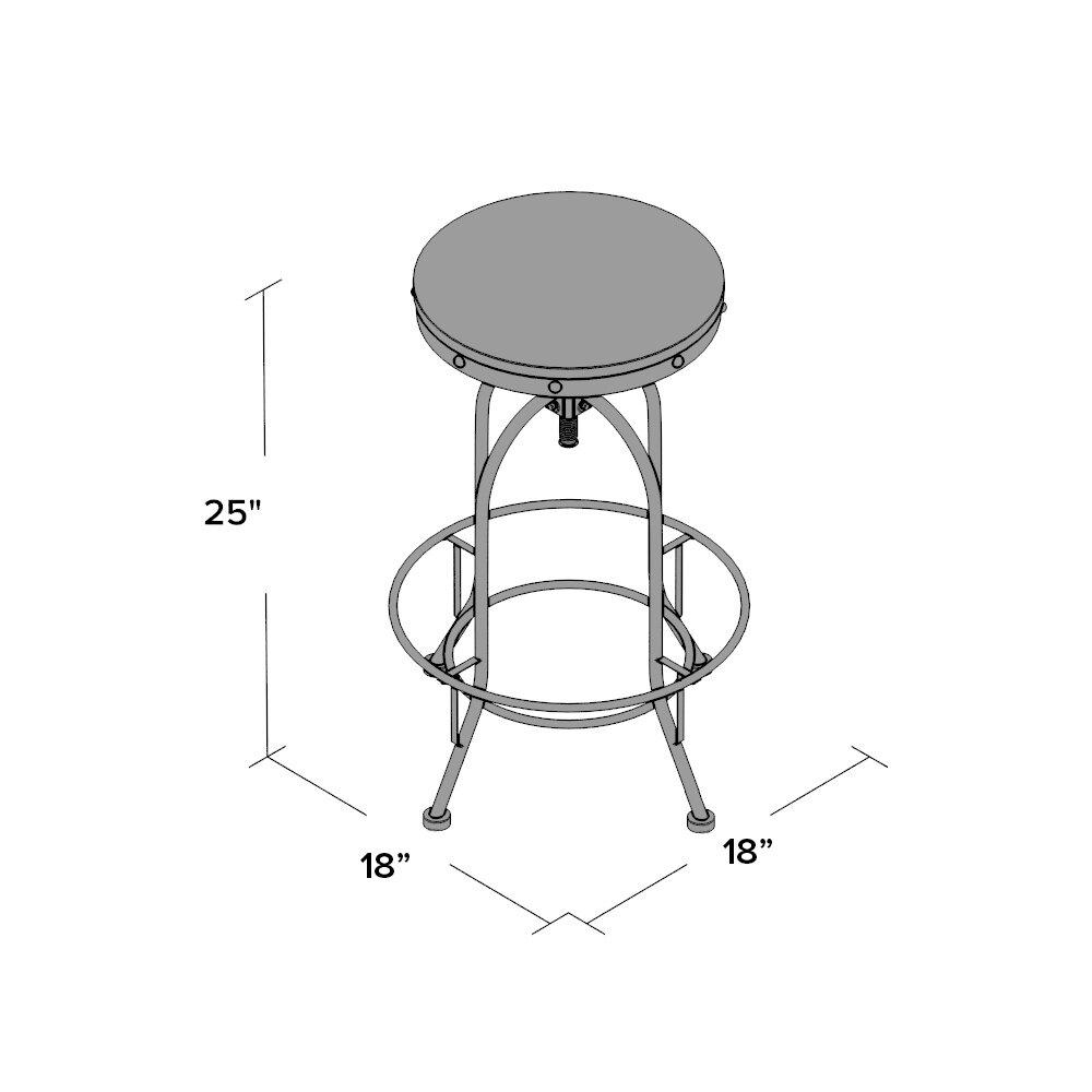 Mercury Row Adjustable Height Swivel Bar Stool Amp Reviews