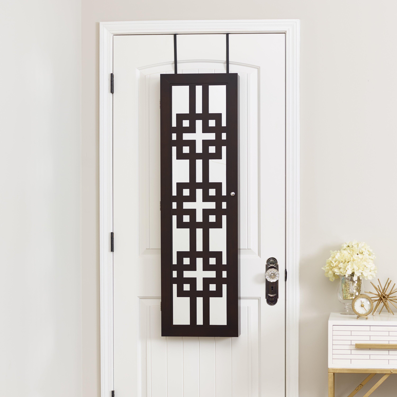 Over The Door Jewelry Armoire: Mercury Row Deluxe Designer Over The Door Jewelry Armoire