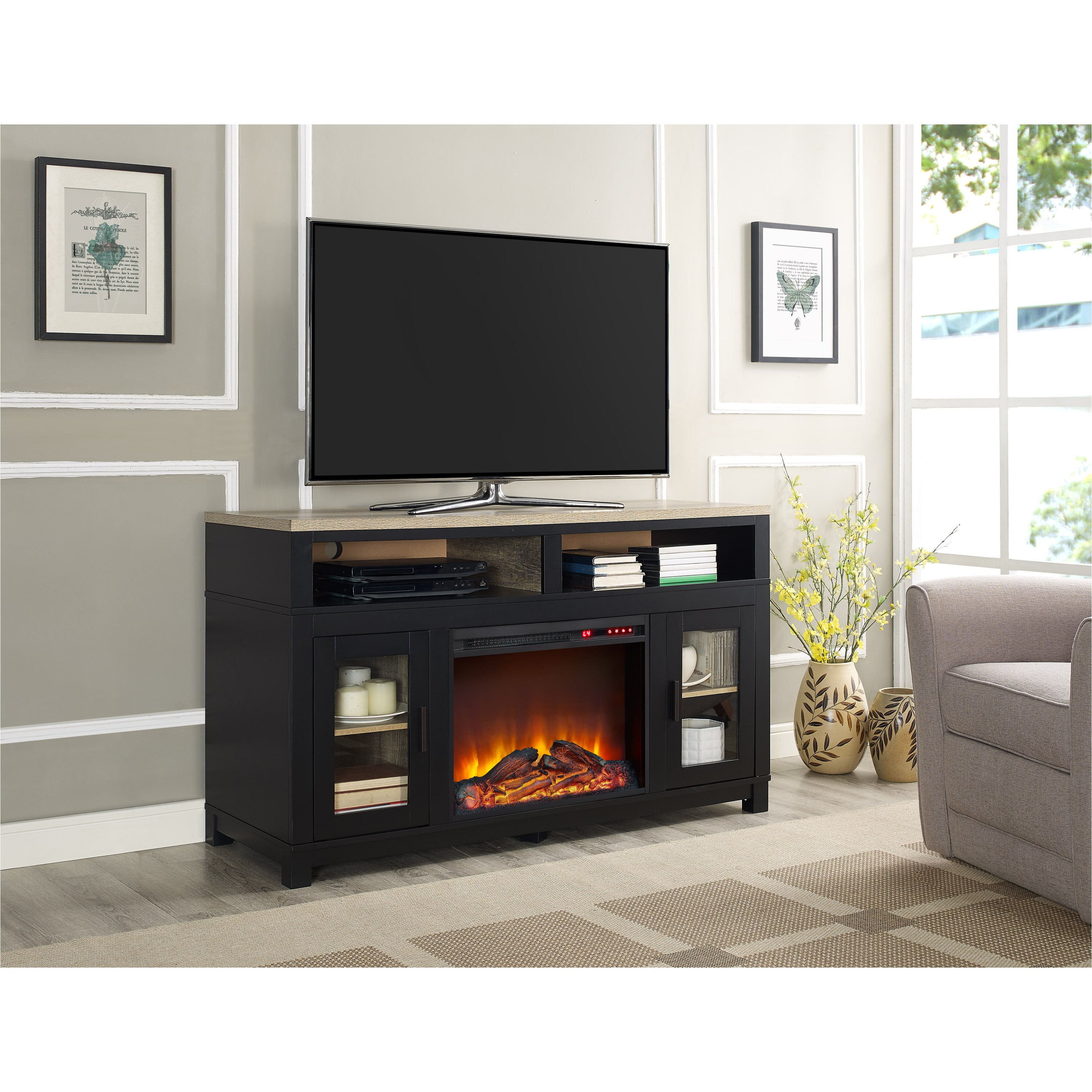 contemporary electric fireplace insert fireplace ideas