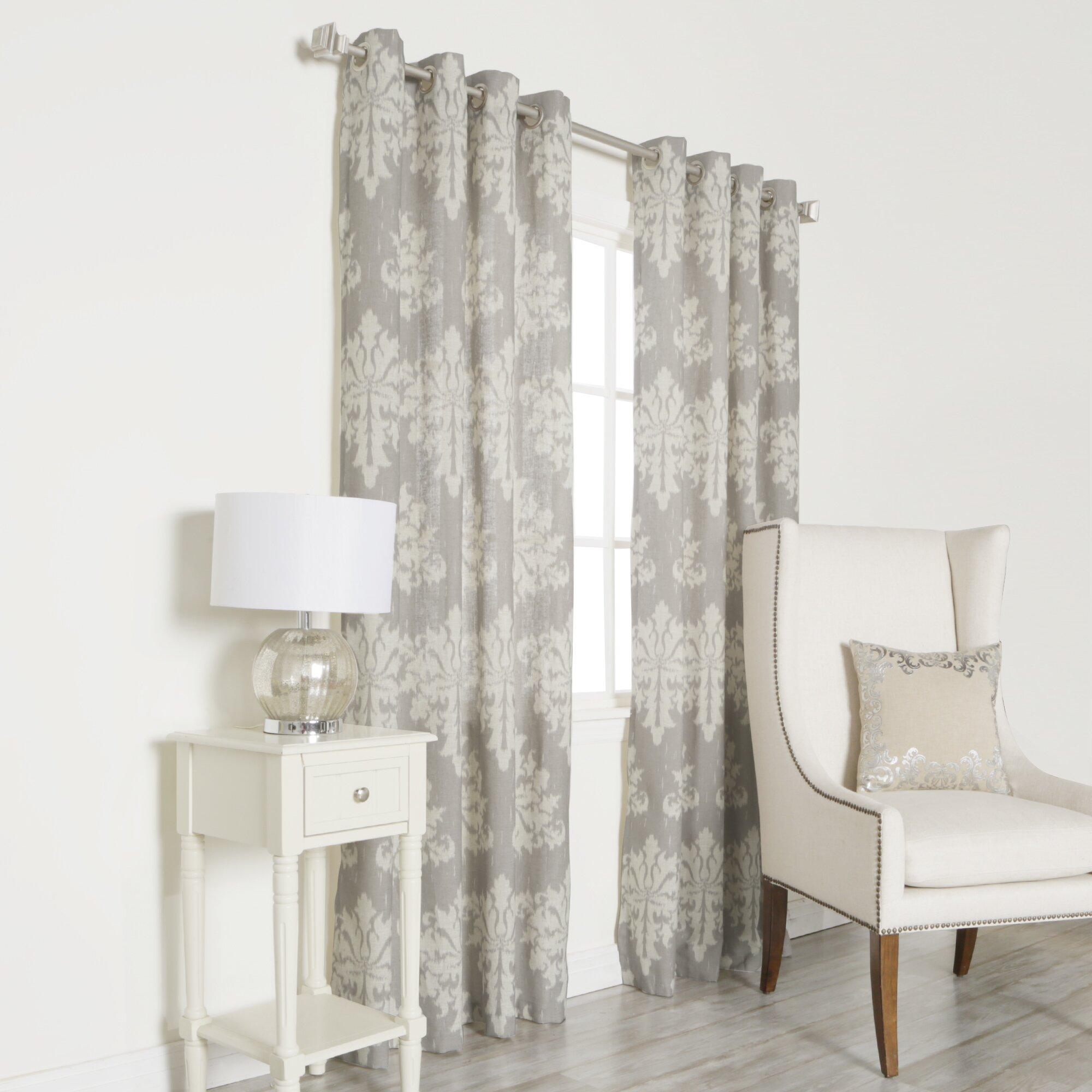 Best Home Fashion Inc Linen Blend Grommet Top Curtain Panels Reviews Wayfair